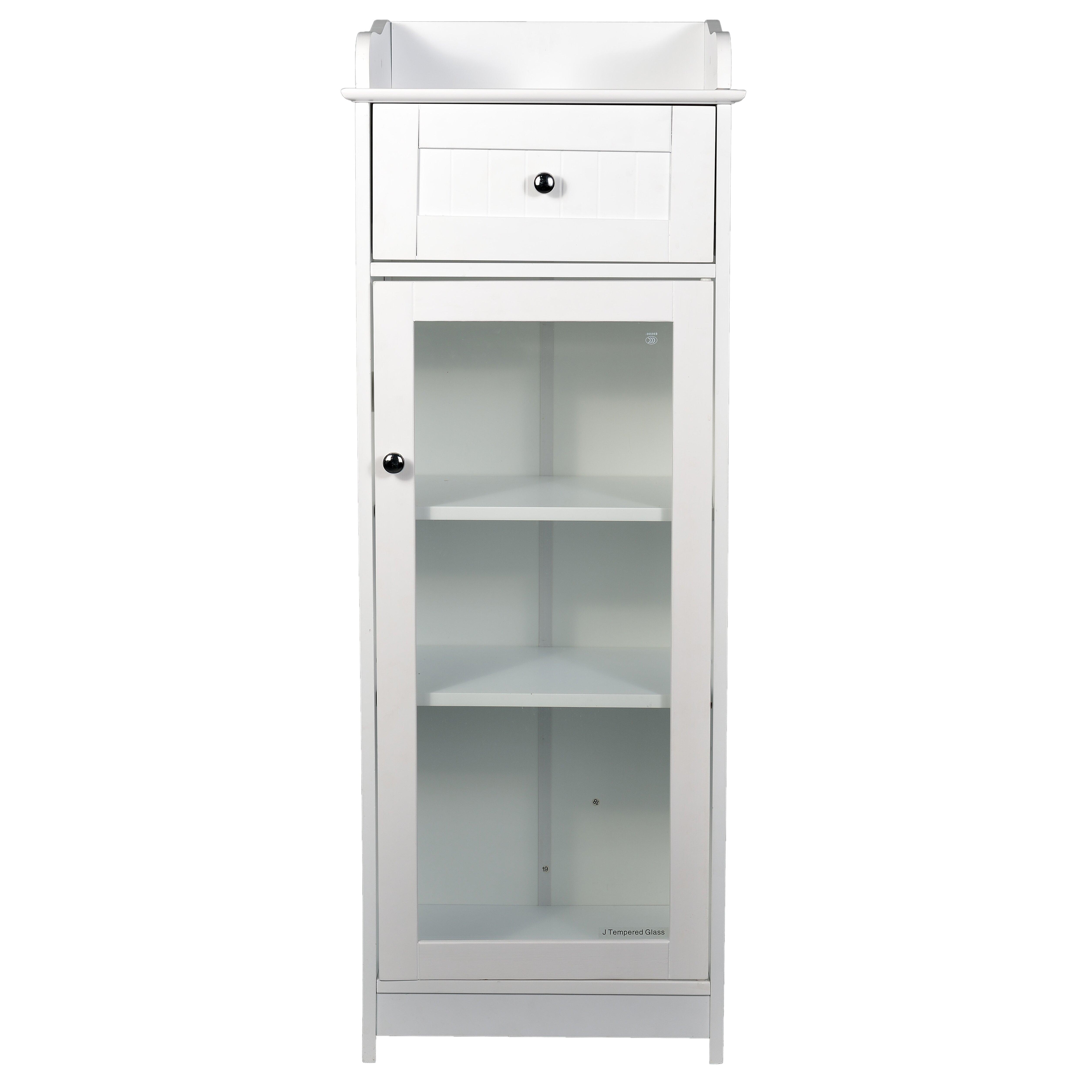 Free standing bathroom storage cabinets new york for Bathroom cabinets york