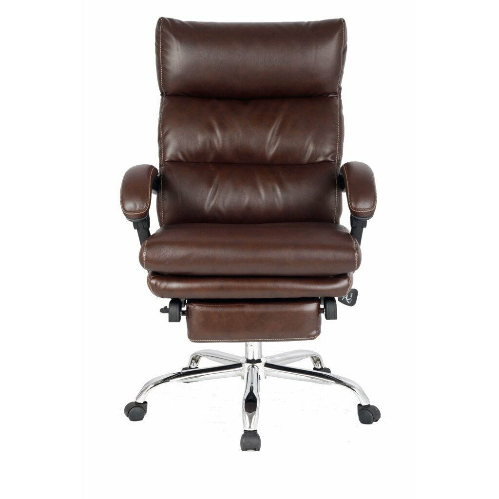 Viva Office High Back Leather Executive Chair With Double Thick Padded Headre