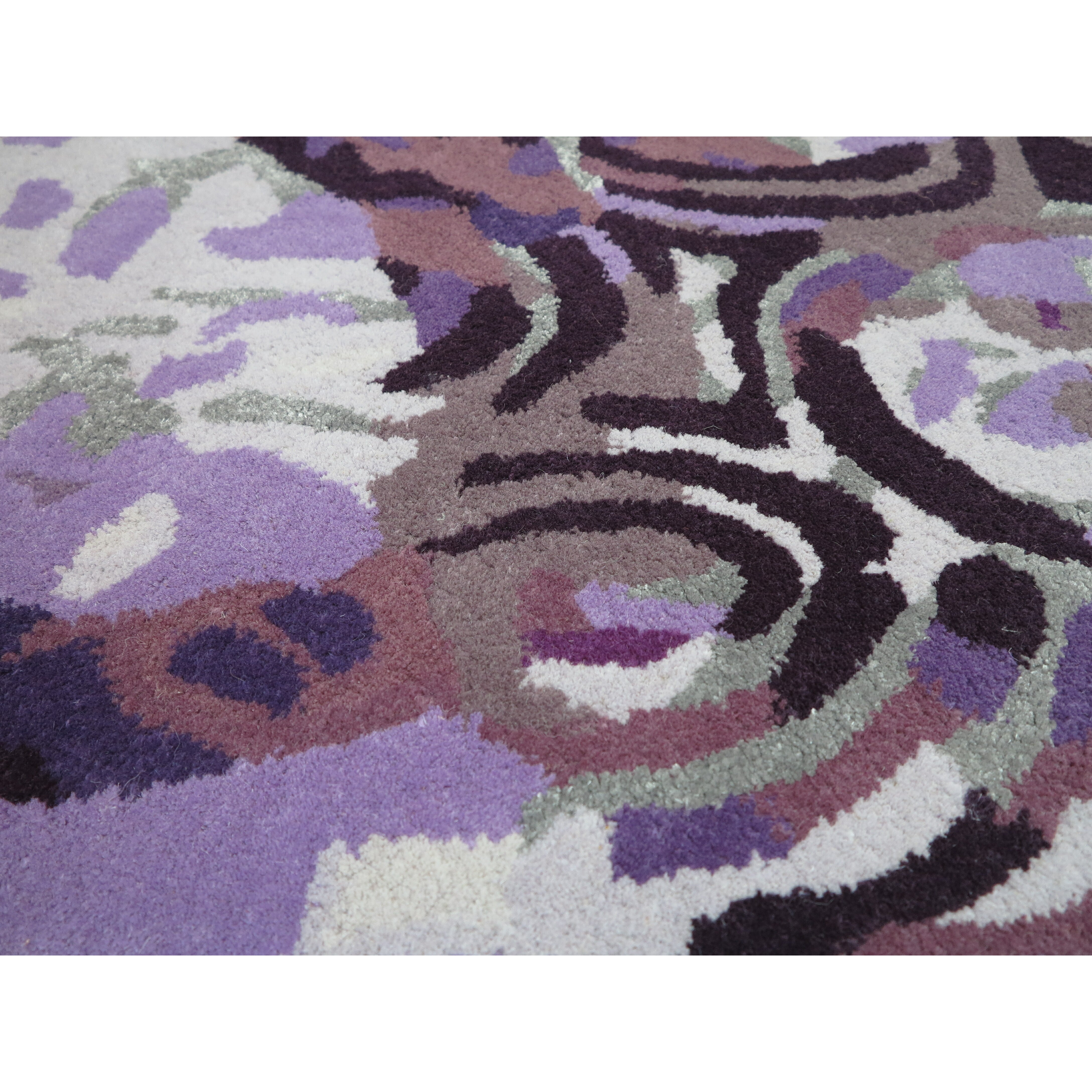 foreign accents legends hand tufted purple area rug wayfair