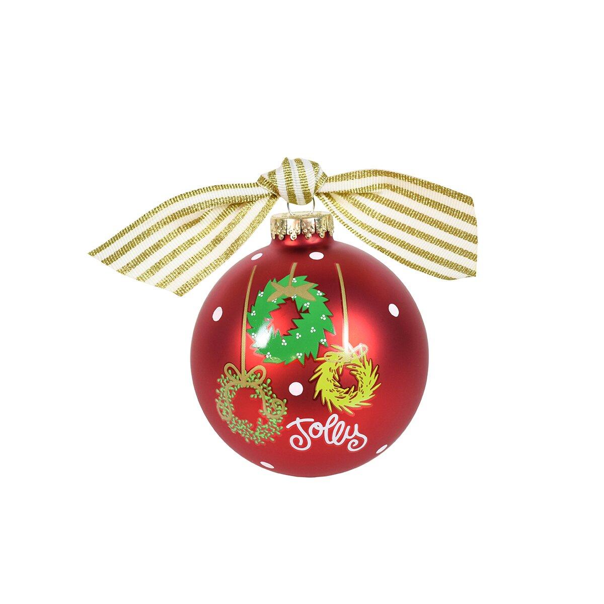 coton colors hanging wreaths glass ornament wayfair