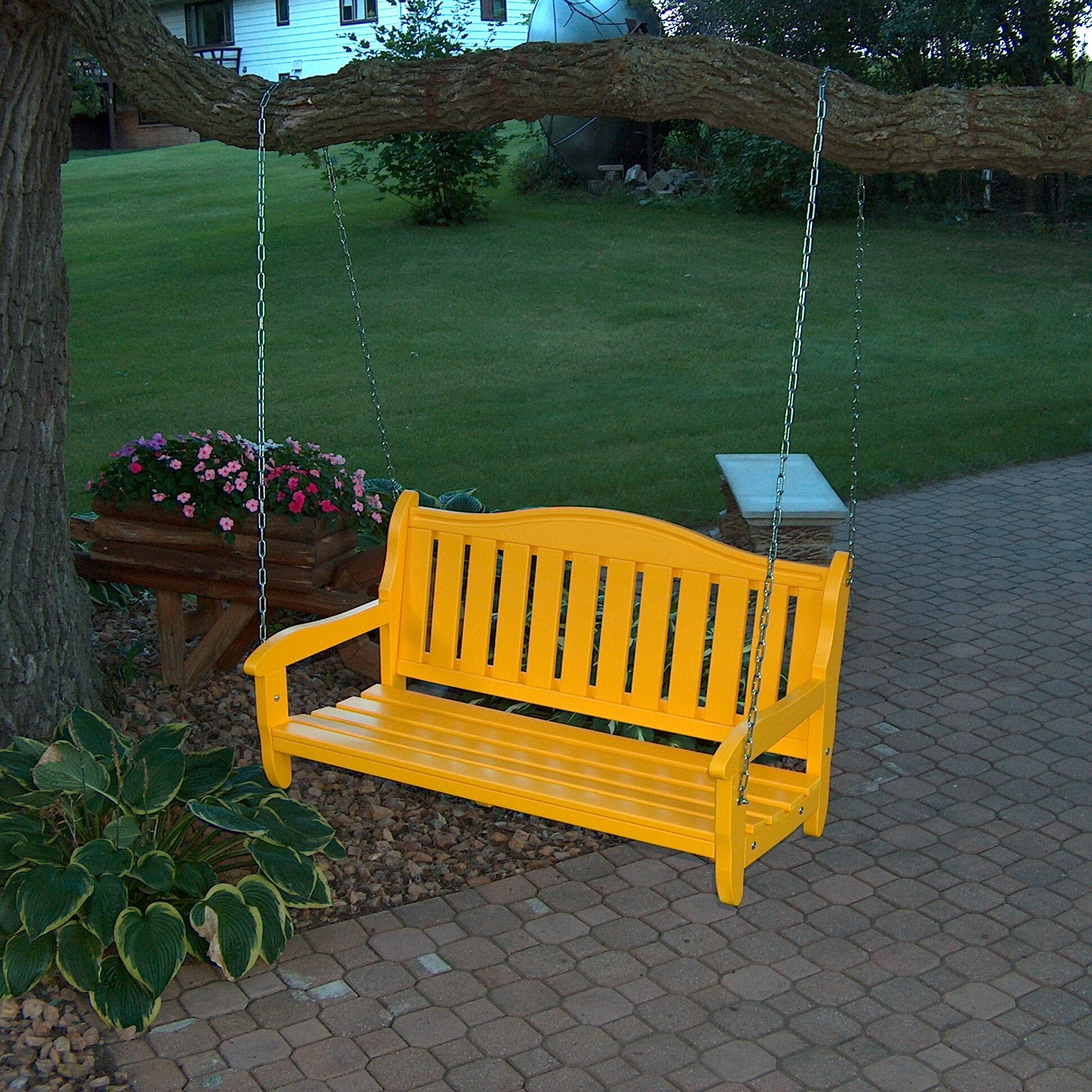 Prairie leisure design garden porch swing reviews wayfair for Prairie style garden design