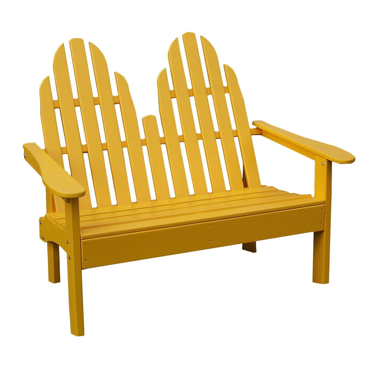 Prairie Leisure Design Adirondack Wood Garden Bench Reviews Wayfair