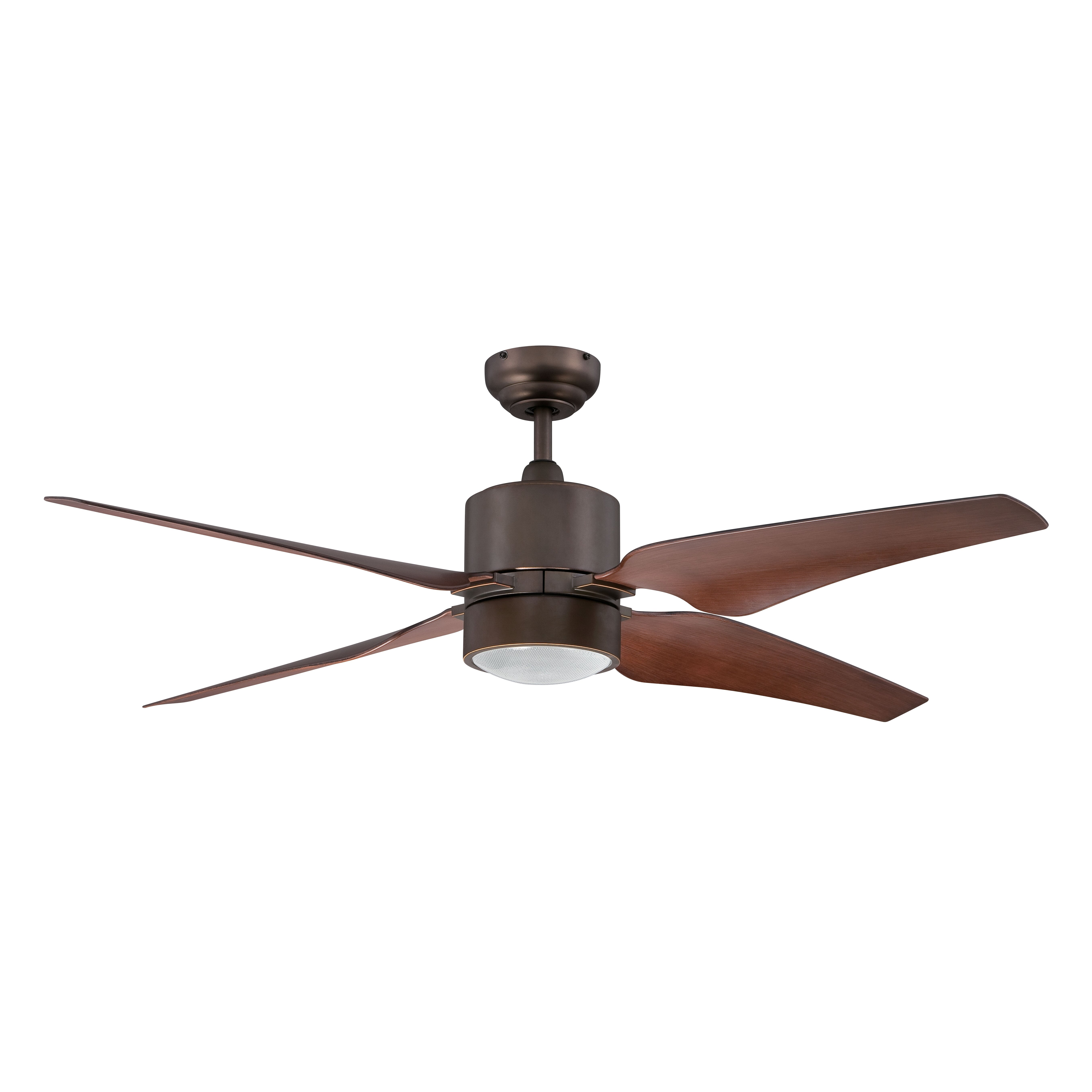 """Kendal Lighting 52"""" Nexor 4 Blade Ceiling Fan With Wall"""