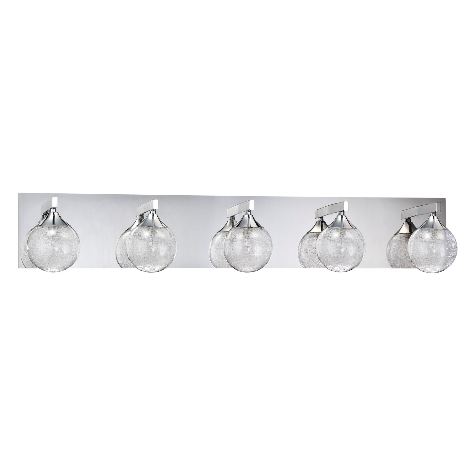 5 Light Bathroom Vanity Light: Kendal Lighting Fybra 5 Light Bath Vanity Light & Reviews