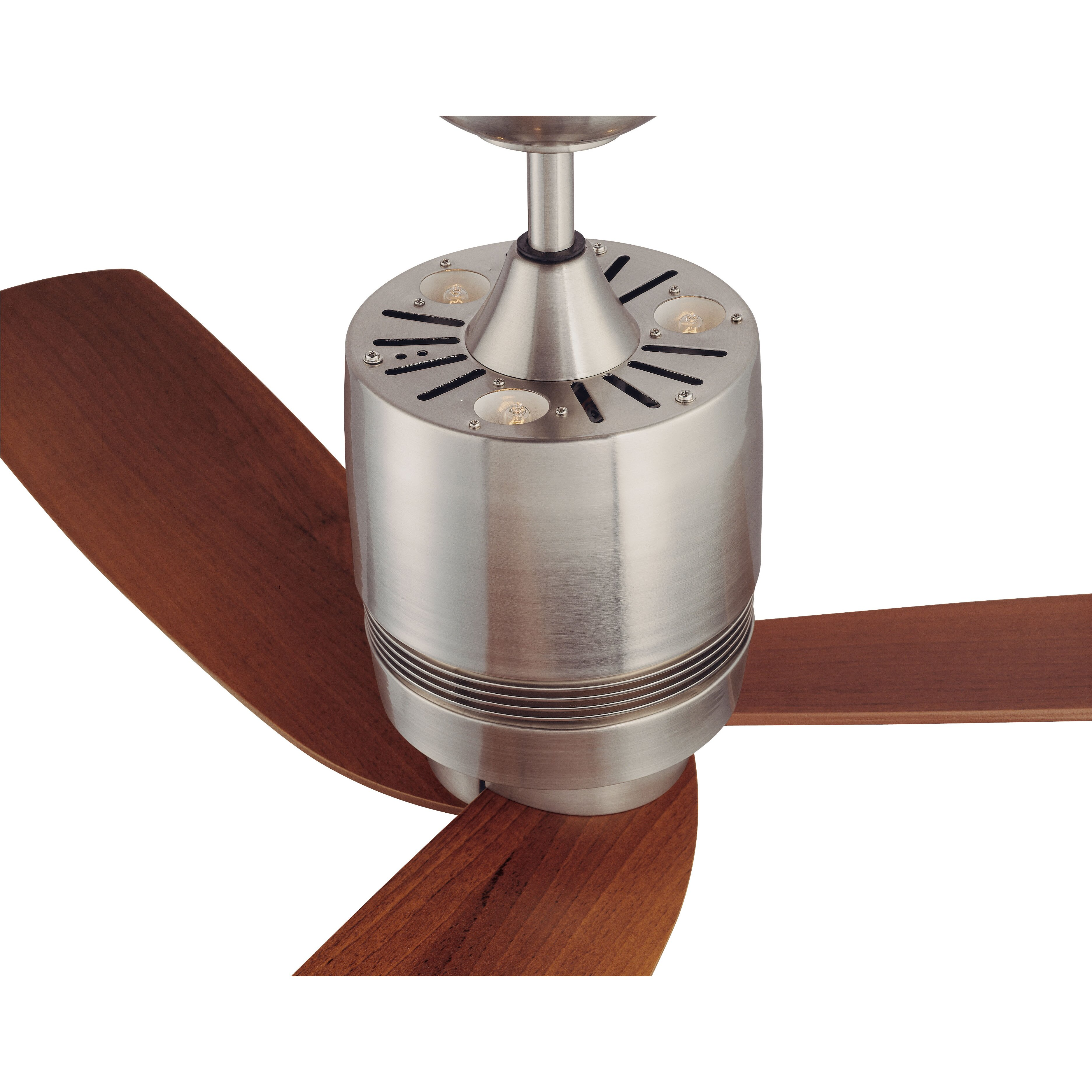 Kendal Lighting 52 Quot Tris 3 Blade Ceiling Fan With Wall