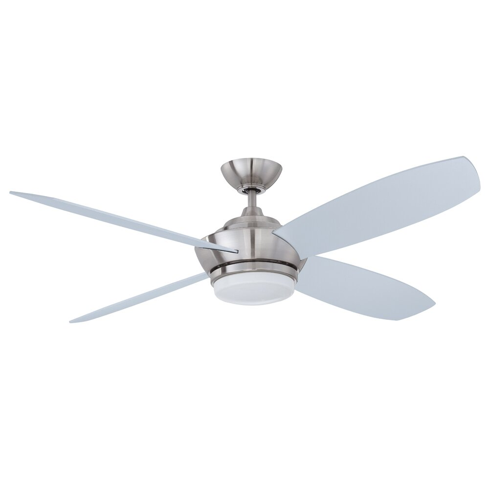 "Kendal Lighting 52"" Zeta 4 Blade Ceiling Fan With Wall"