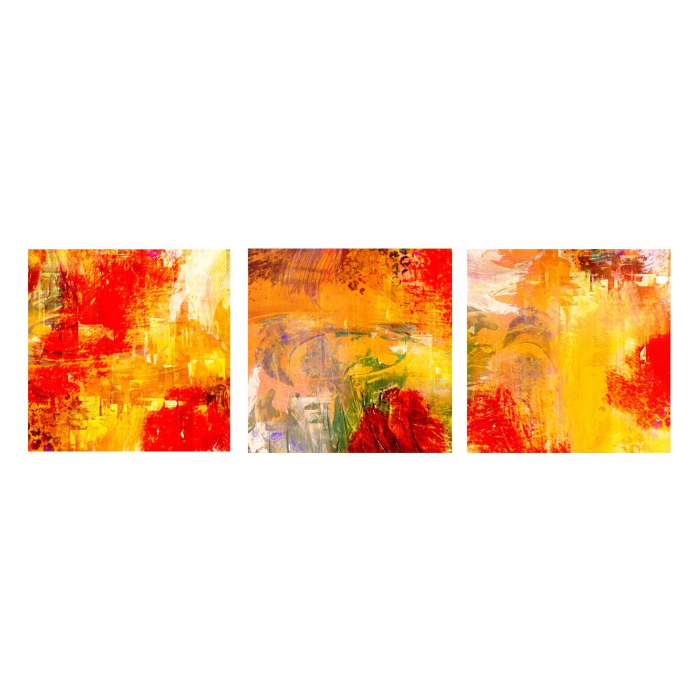 Ready2hangart abstract 3 piece graphic art on canvas set for Set of three canvas paintings