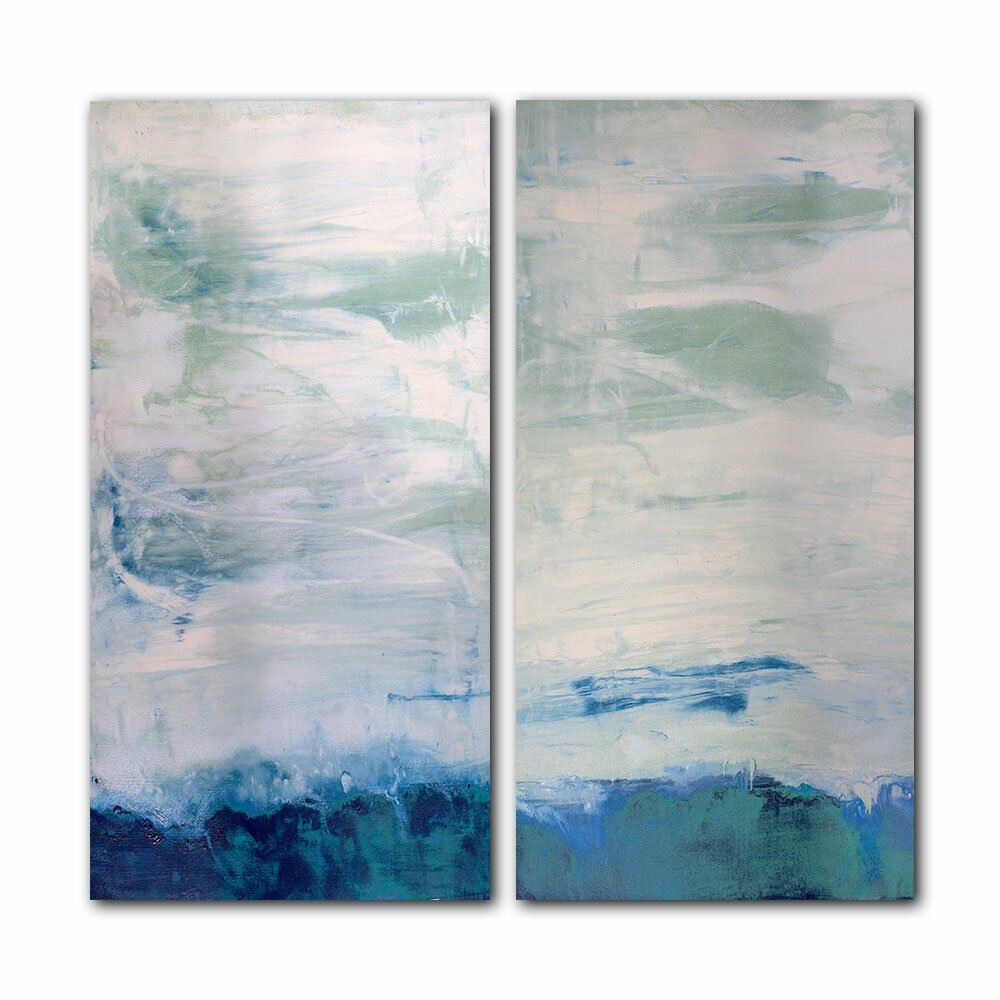 Ready2hangart Abstract 2 Piece Graphic Art On Canvas Set
