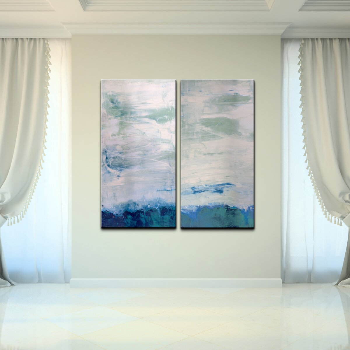 Ready2hangart abstract 2 piece graphic art on canvas set for Ready set decor reviews