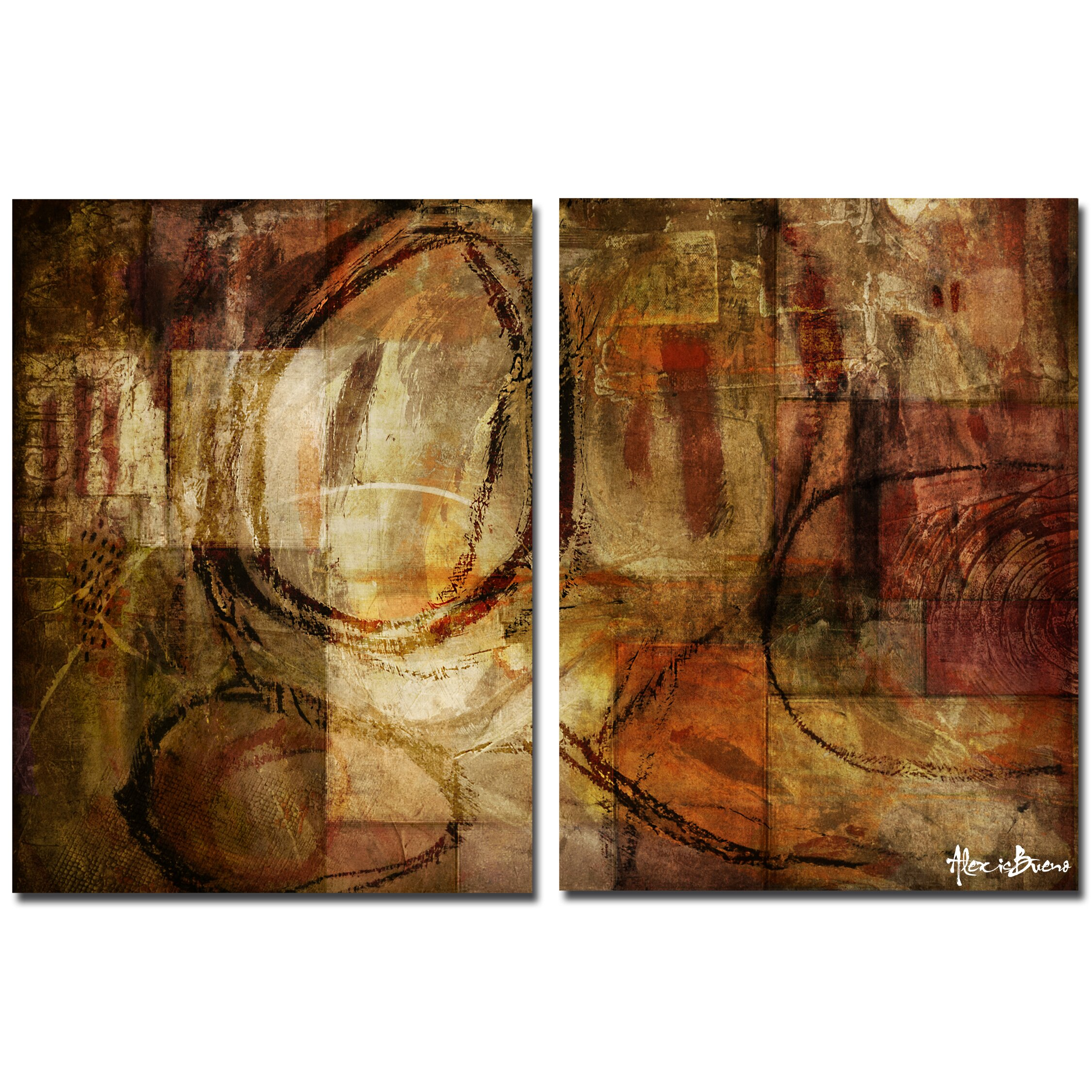 Ready2hangart Oversized Abstract 2 Piece Print Of Painting