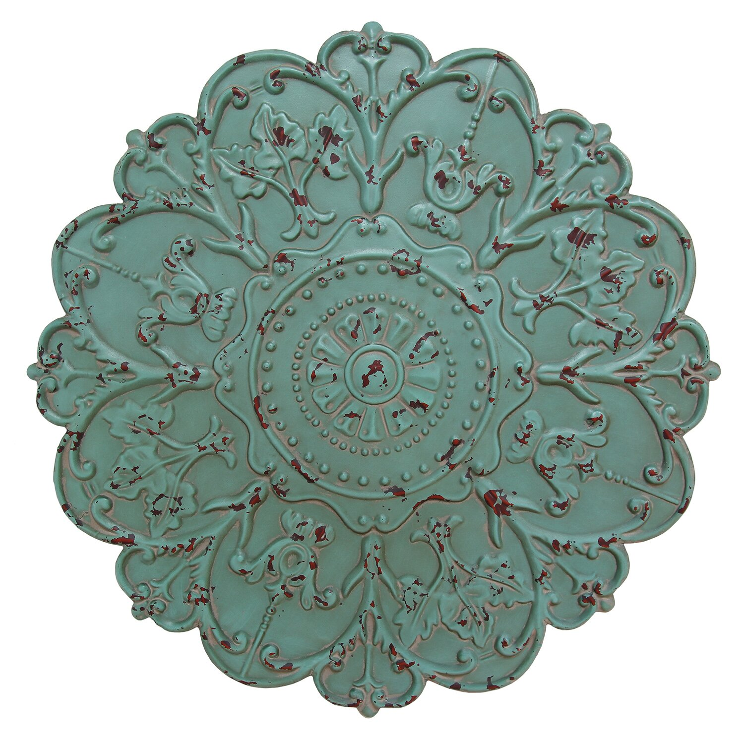 Stratton Home Decor Sea Foam Medallion Wall D Cor