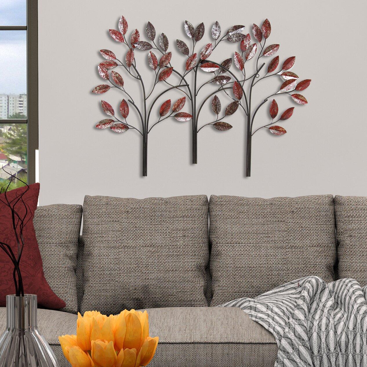 Stratton Home Decor Ombre Trees Wall D Cor Reviews Wayfair