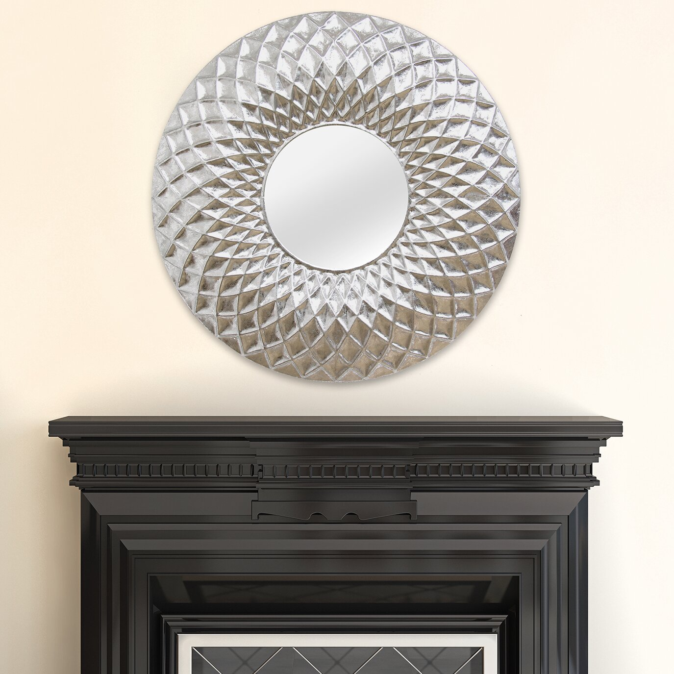 Stratton home decor sarah wall mirror reviews wayfair - Wall decor mirror home accents ...
