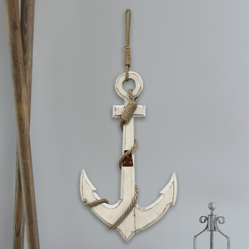 Stratton home decor nautical anchor wall d cor reviews for Anchor decoration
