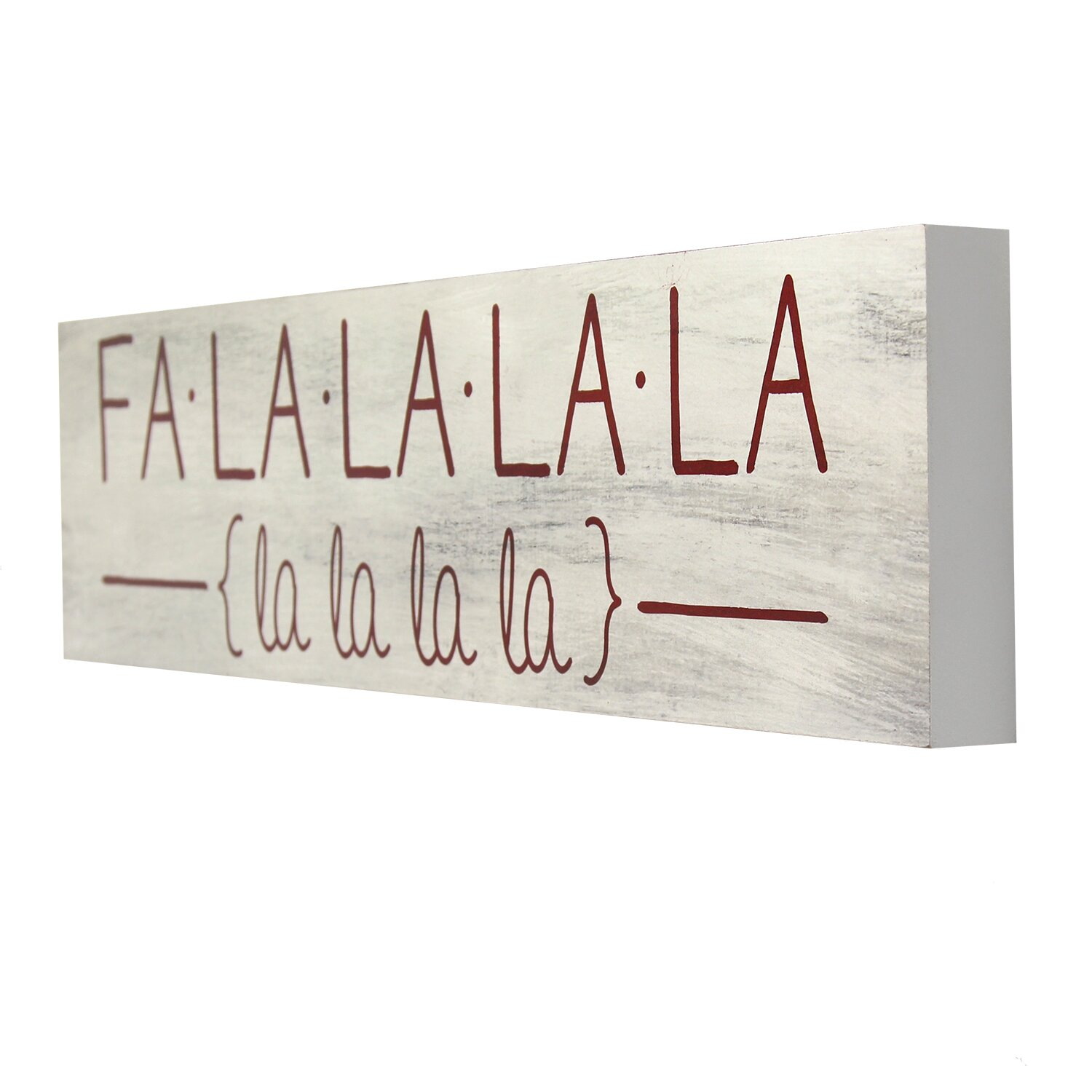 Stratton home decor 39 falalalala 39 textual art reviews for Stratton house