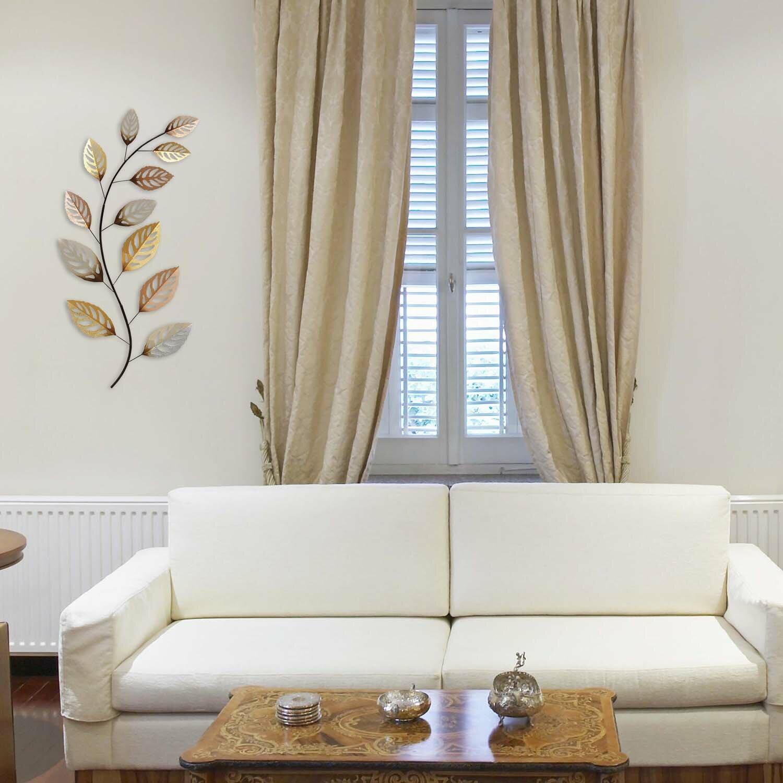 Stratton Home Decor Metallic Leaf Wall D Cor Reviews