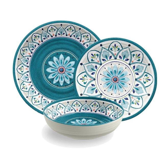Tarhong Moroccan Medallion 12 Piece Dinnerware Set