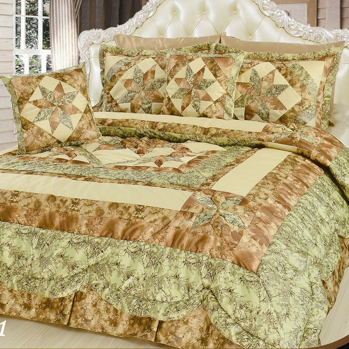 DaDa Bedding Runway 5 Piece Queen Comforter Set | Wayfair