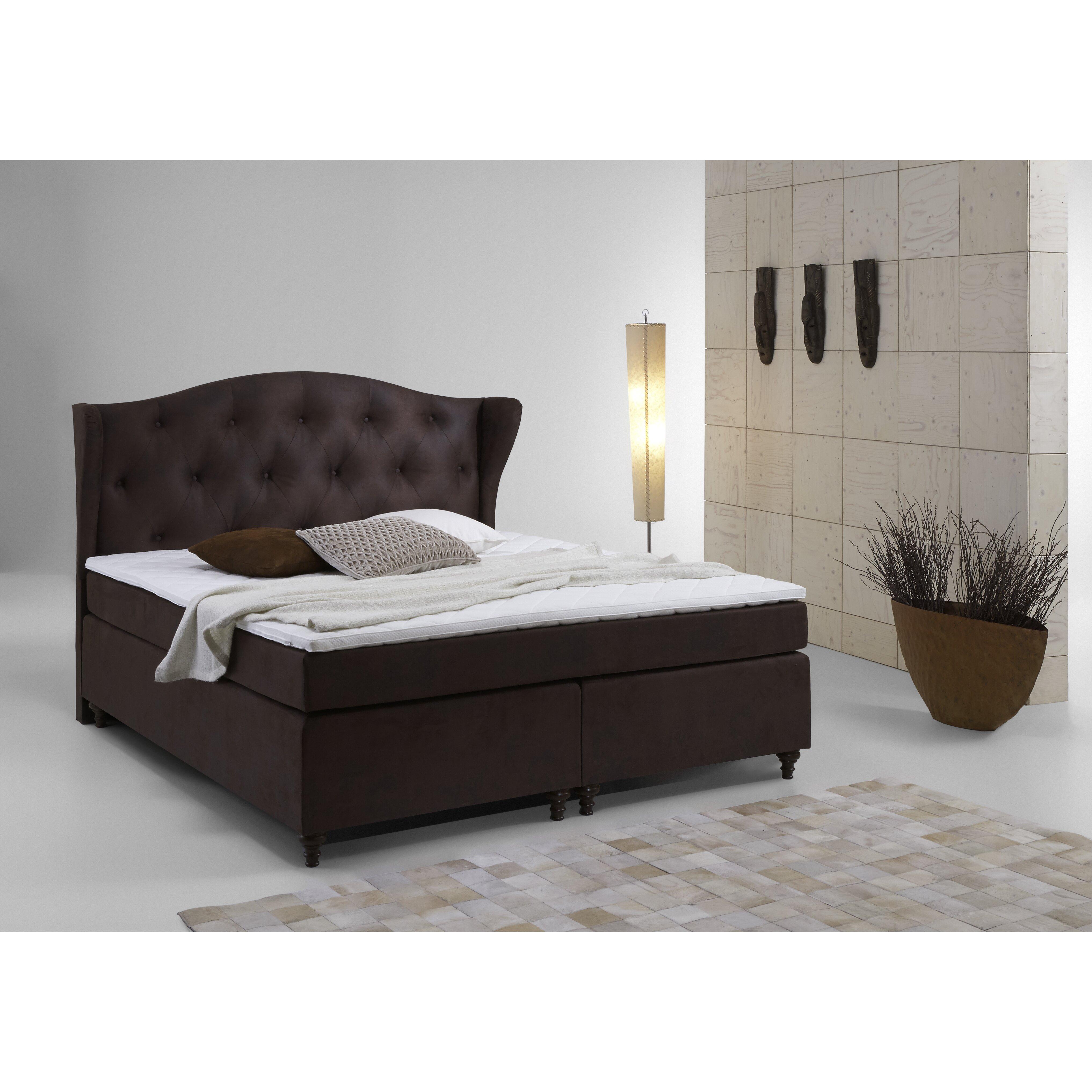 atlantic home collection boxspringbett felix mit topper. Black Bedroom Furniture Sets. Home Design Ideas