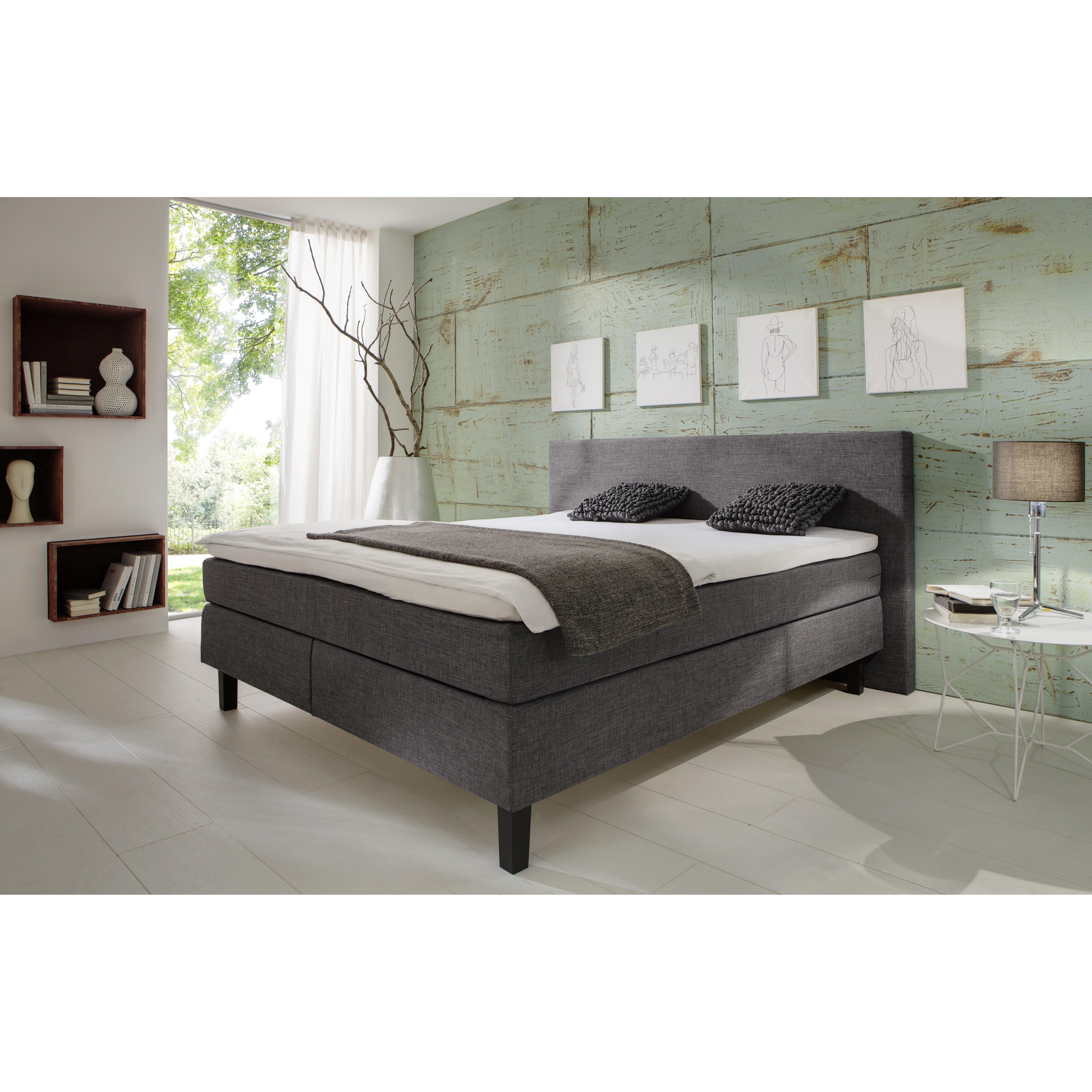 atlantic home collection boxspringbett amrum mit topper. Black Bedroom Furniture Sets. Home Design Ideas