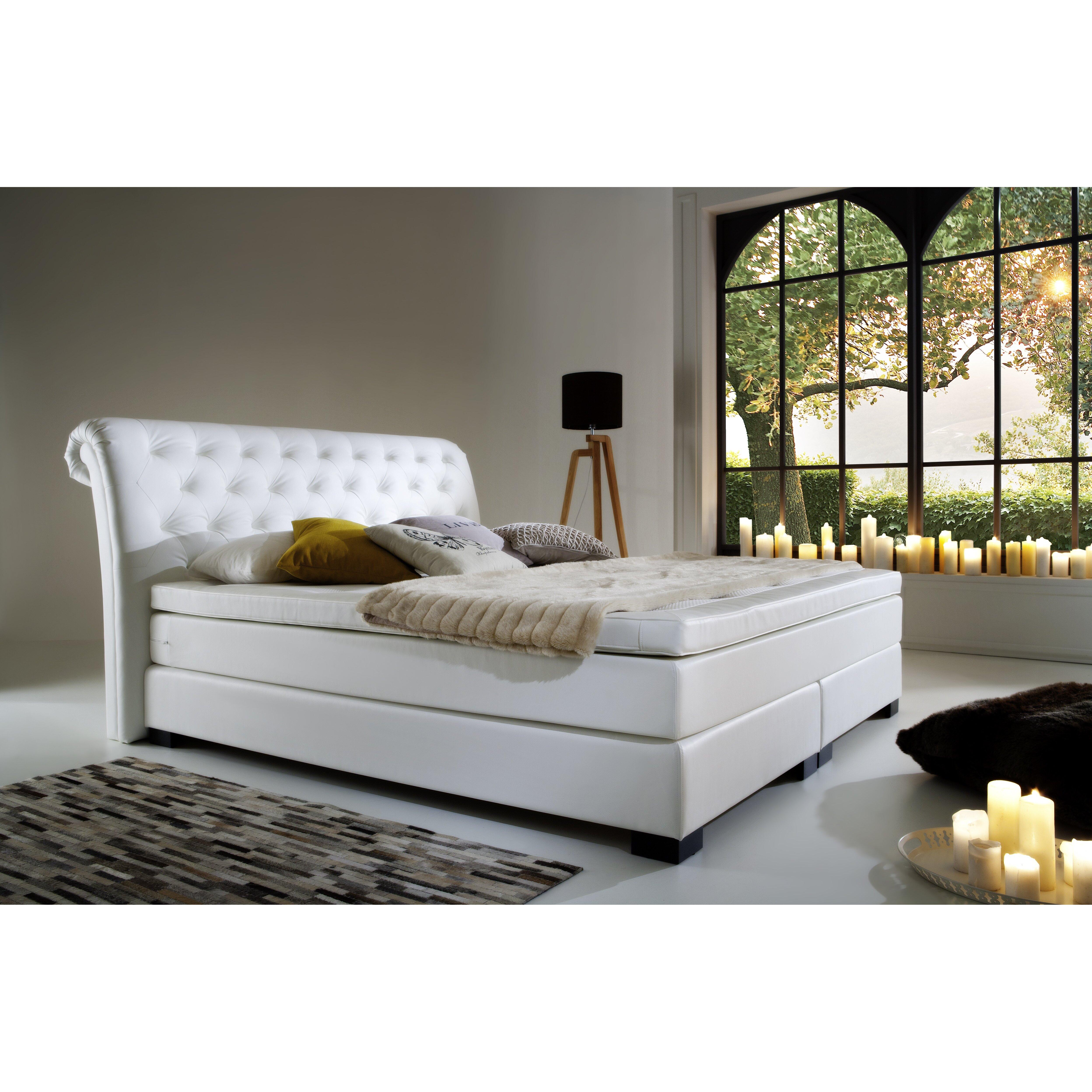 atlantic home collection boxspringbett molly mit topper. Black Bedroom Furniture Sets. Home Design Ideas