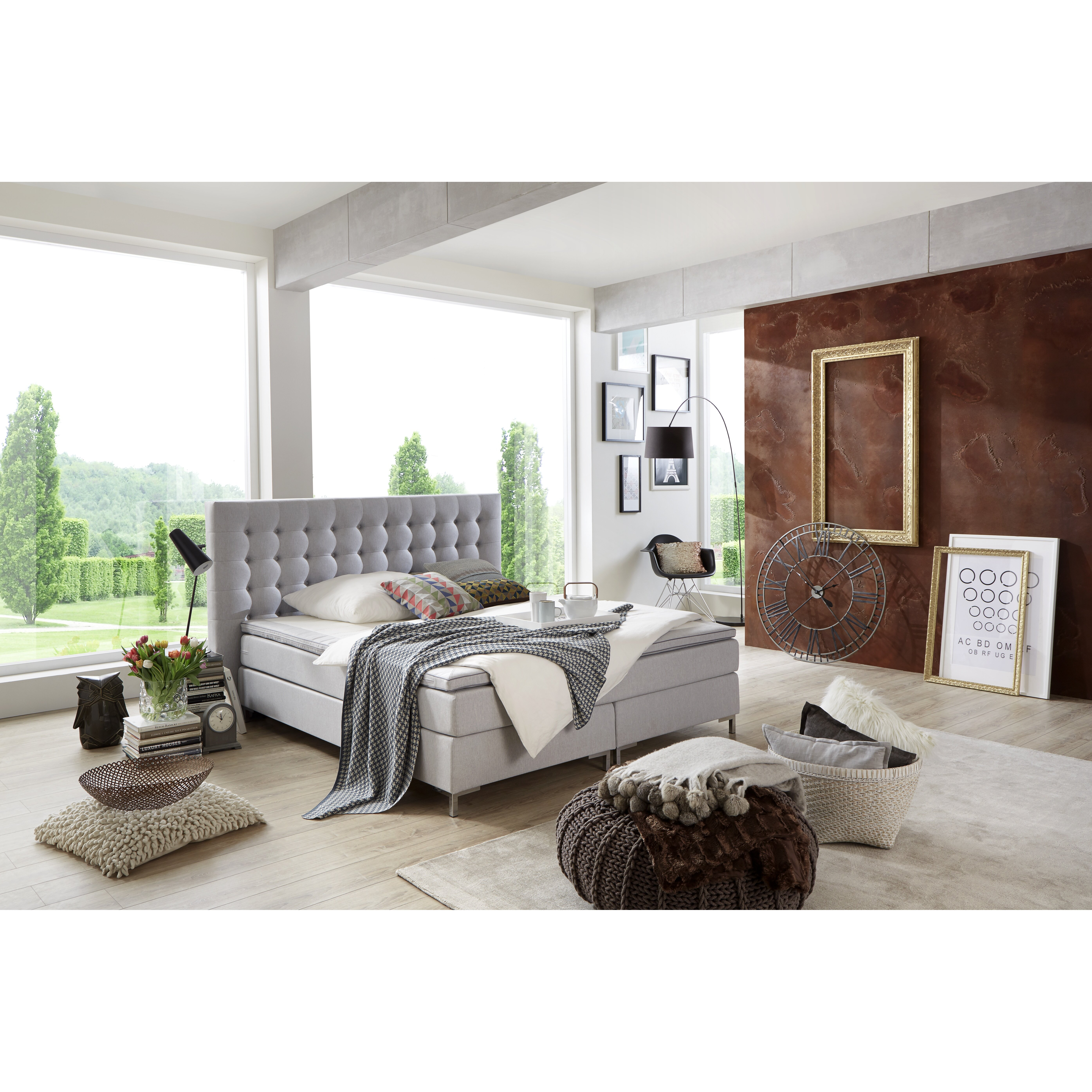 atlantic home collection boxspringbett anni mit topper. Black Bedroom Furniture Sets. Home Design Ideas