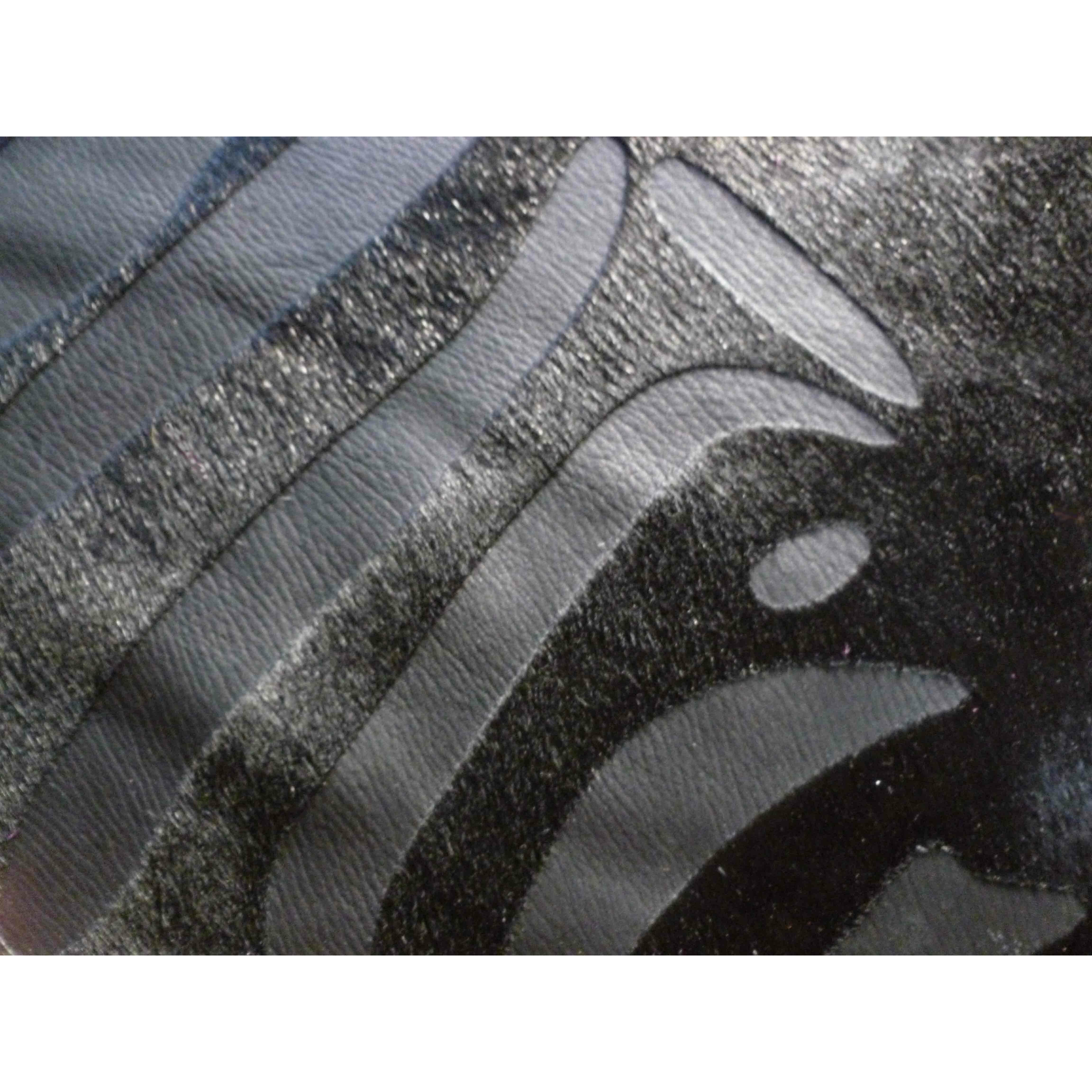Zebra Rug Wayfair: Chesterfield Leather Etched Zebra Brazilian Cowhide Black