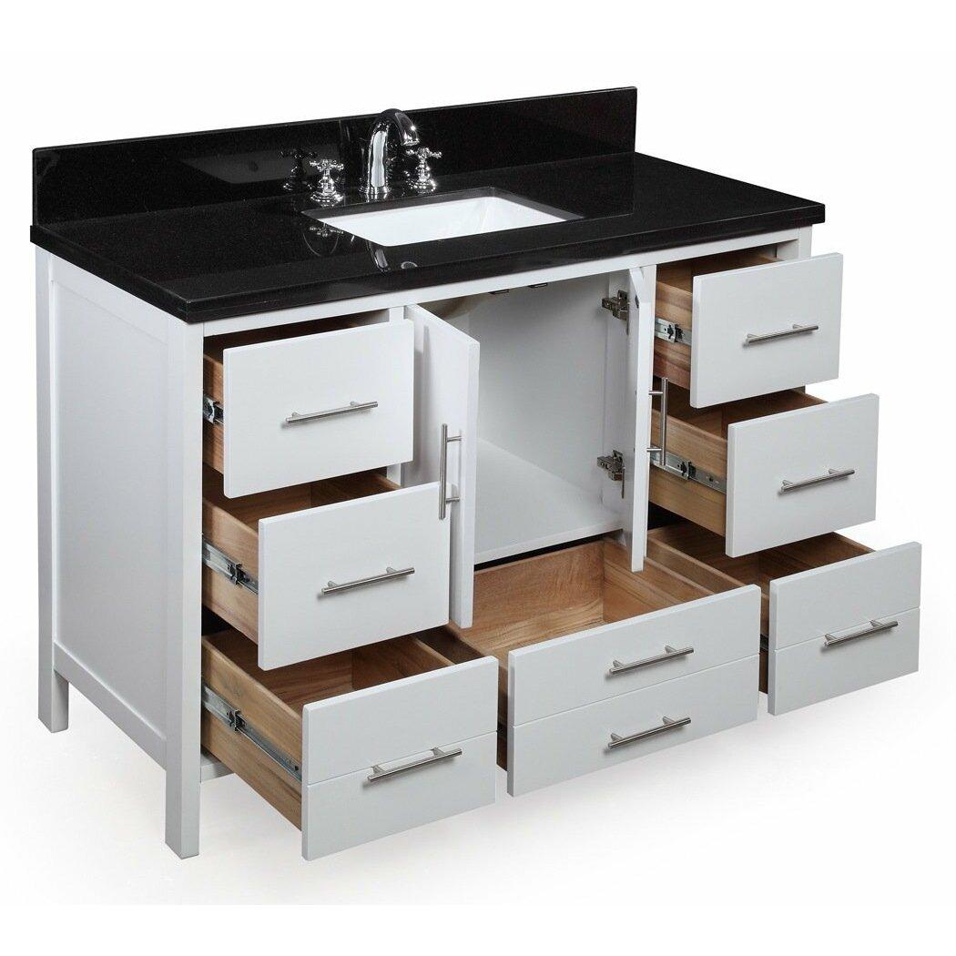 kbc california 48 quot single bathroom vanity set reviews