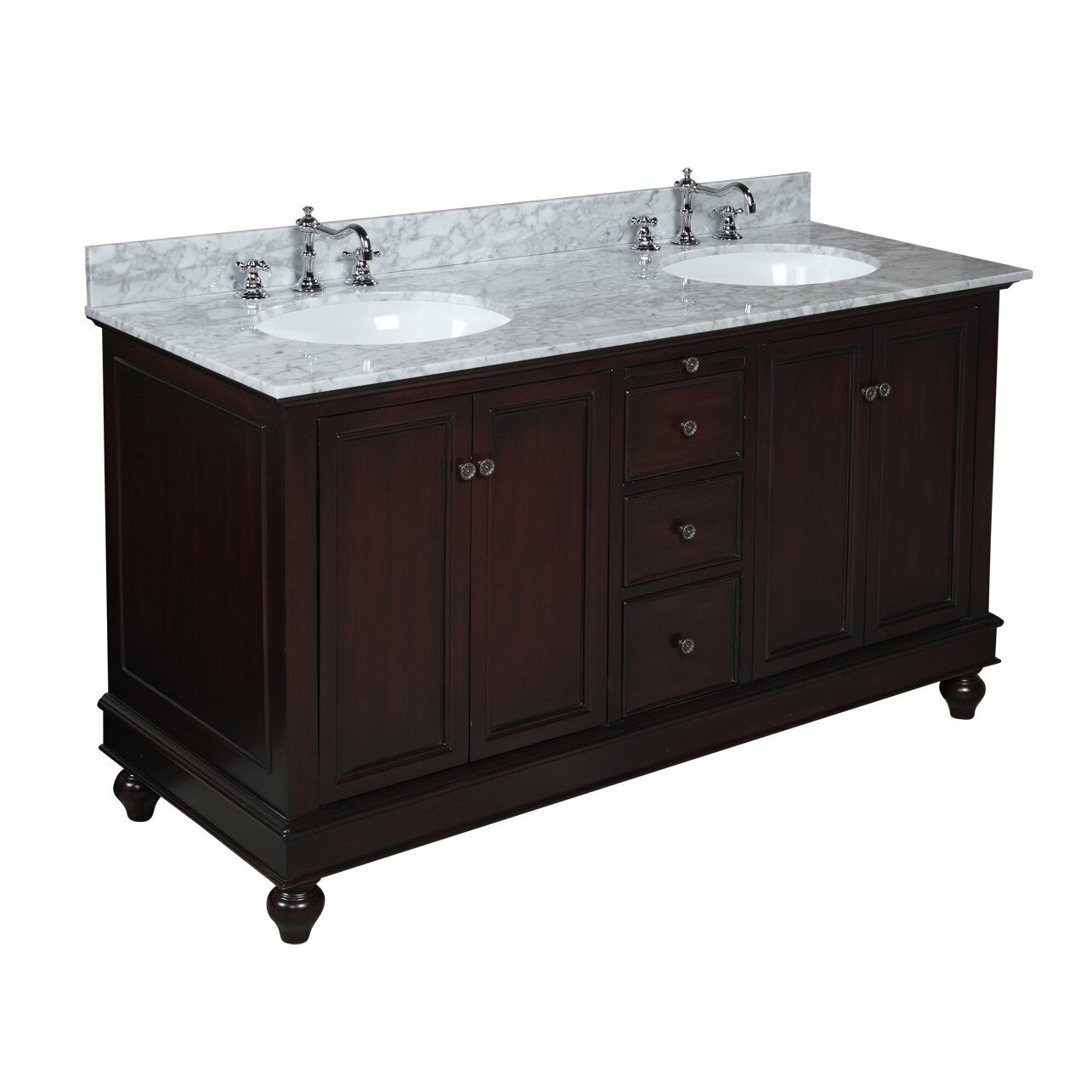 double sink bathroom kbc 60 quot bathroom vanity set amp reviews wayfair 12731