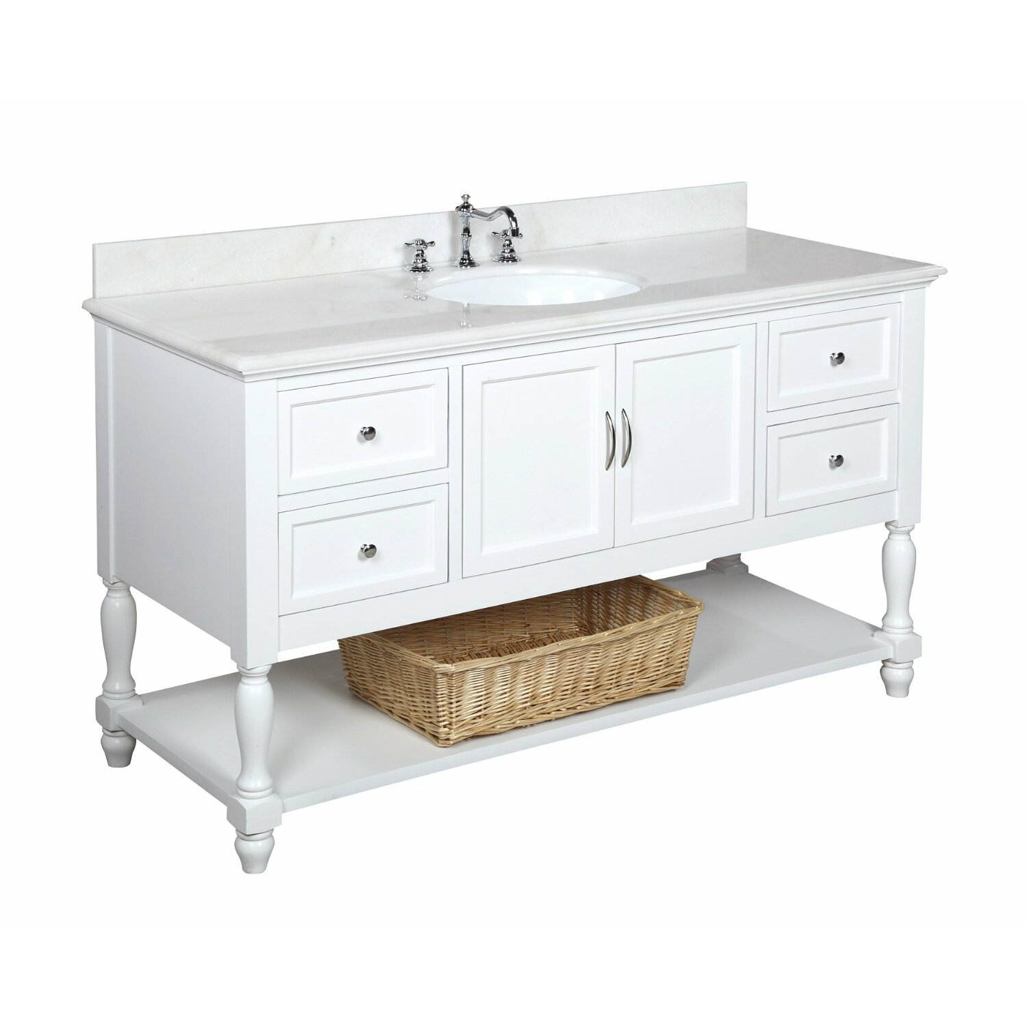60 bathroom vanity single sink kbc beverly 60 quot single bathroom vanity set amp reviews wayfair 21862