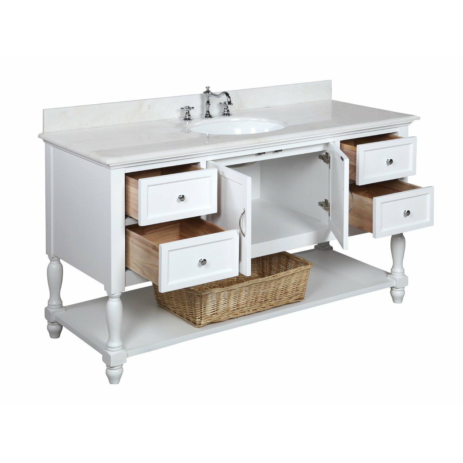 kitchen vanity with sink kbc beverly 60 quot single bathroom vanity set amp reviews wayfair 6378