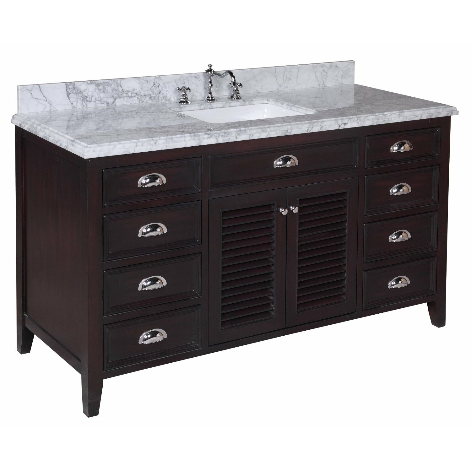 Kbc savannah 60 single bathroom vanity set reviews for Bath and vanity set