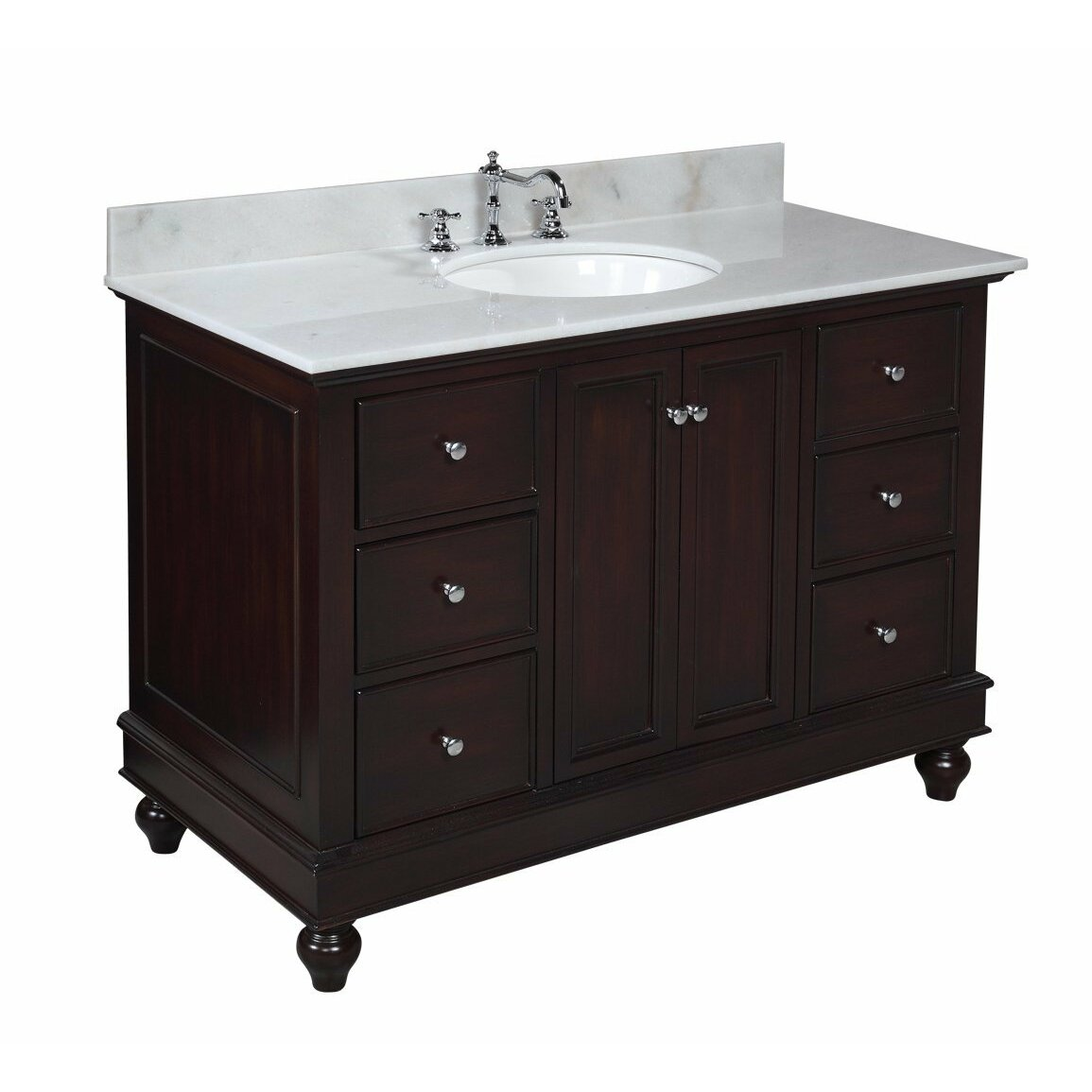 Kbc bella 48 single bathroom vanity set reviews wayfair - Wayfair furniture bathroom vanities ...