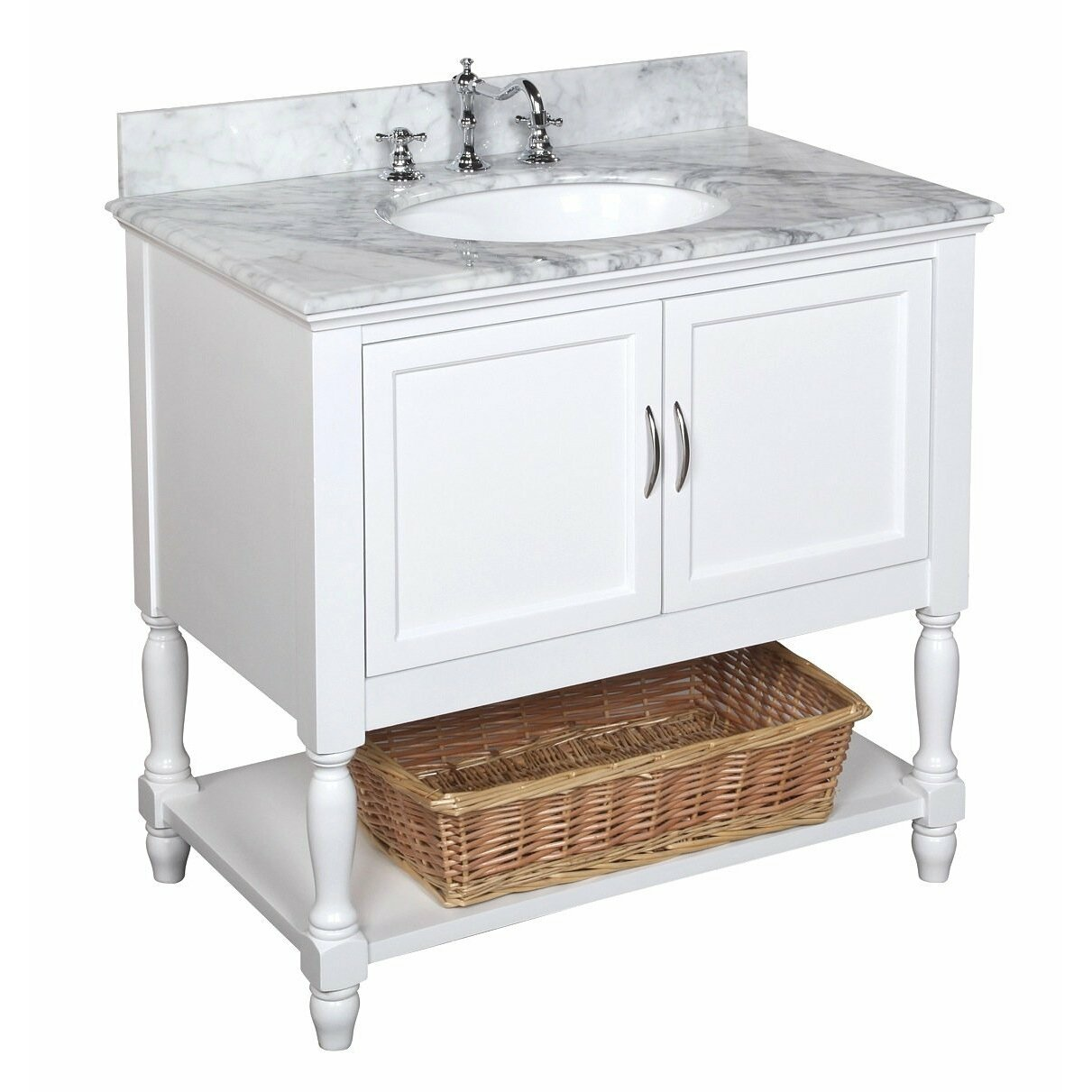 Kbc beverly 36 single bathroom vanity set reviews wayfair for Single bathroom vanity