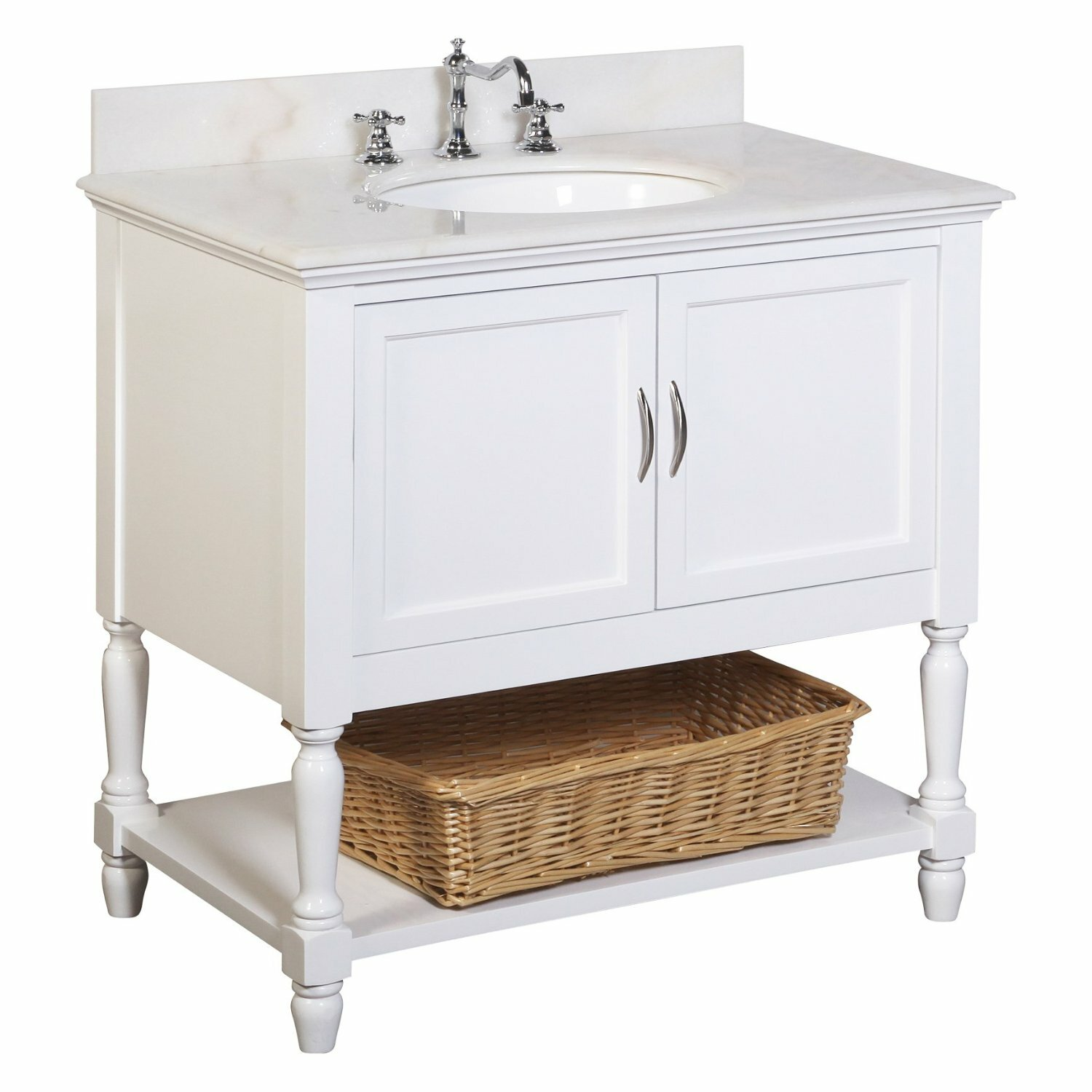 Kbc beverly 36 single bathroom vanity set reviews wayfair for Bath and vanity set