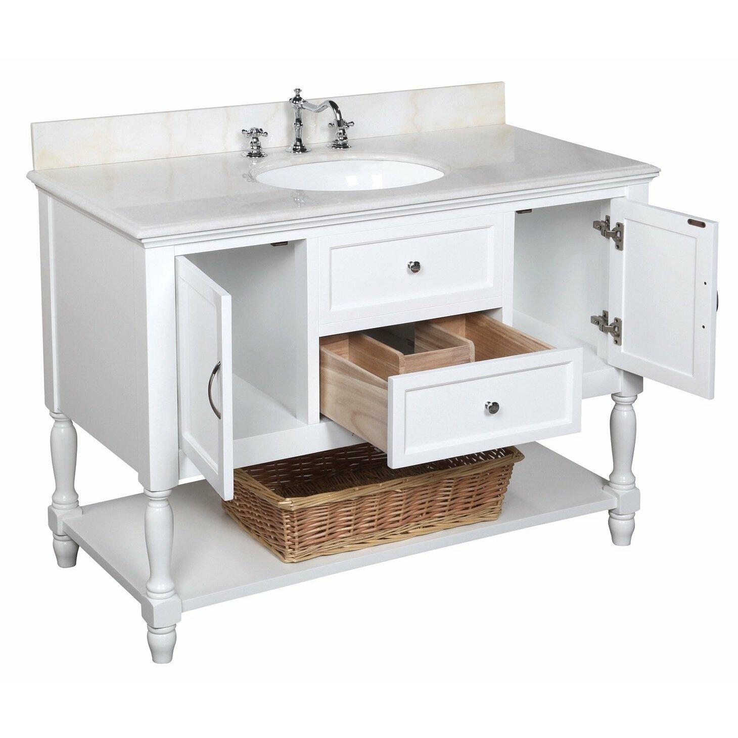 """Used Bathroom Vanity Sets For Sale: KBC Beverly 48"""" Single Bathroom Vanity Set & Reviews"""