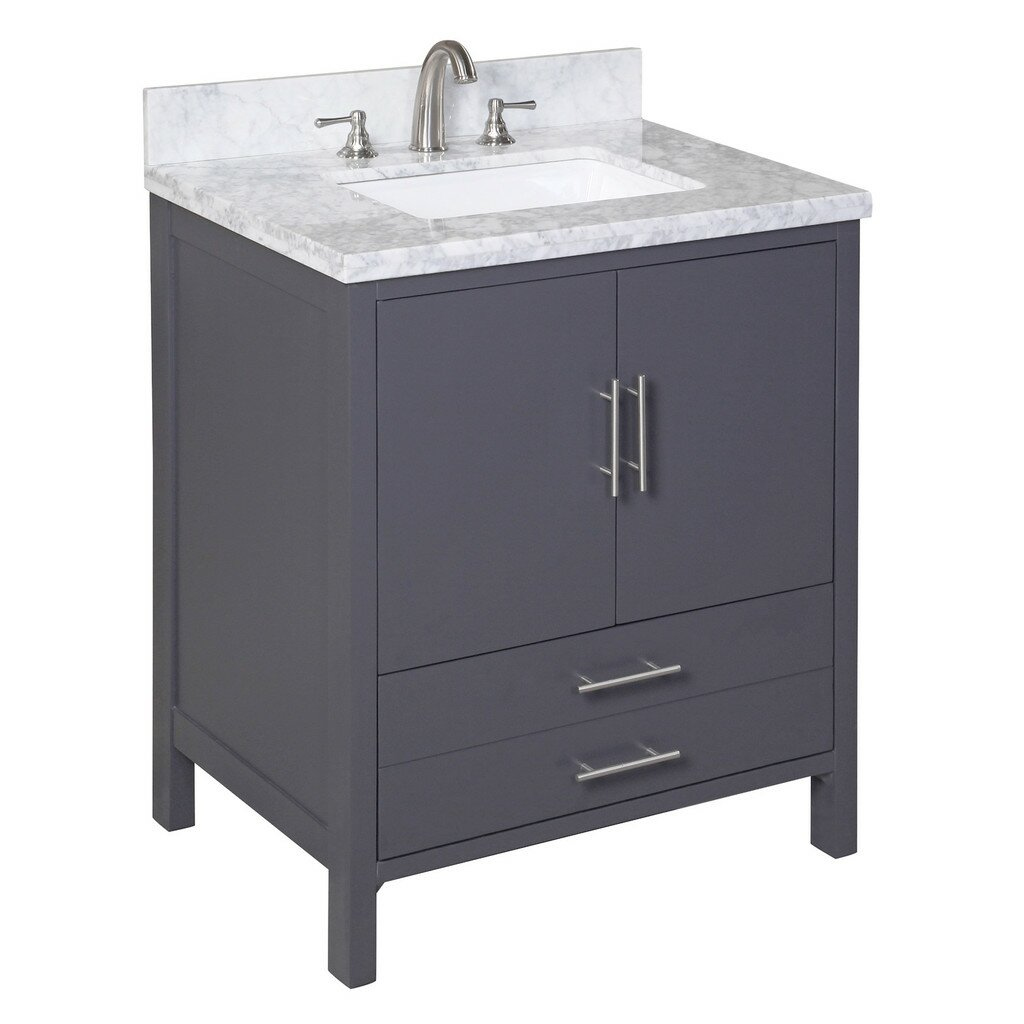 Kbc california 30 single bathroom vanity set reviews for Bath and vanity set