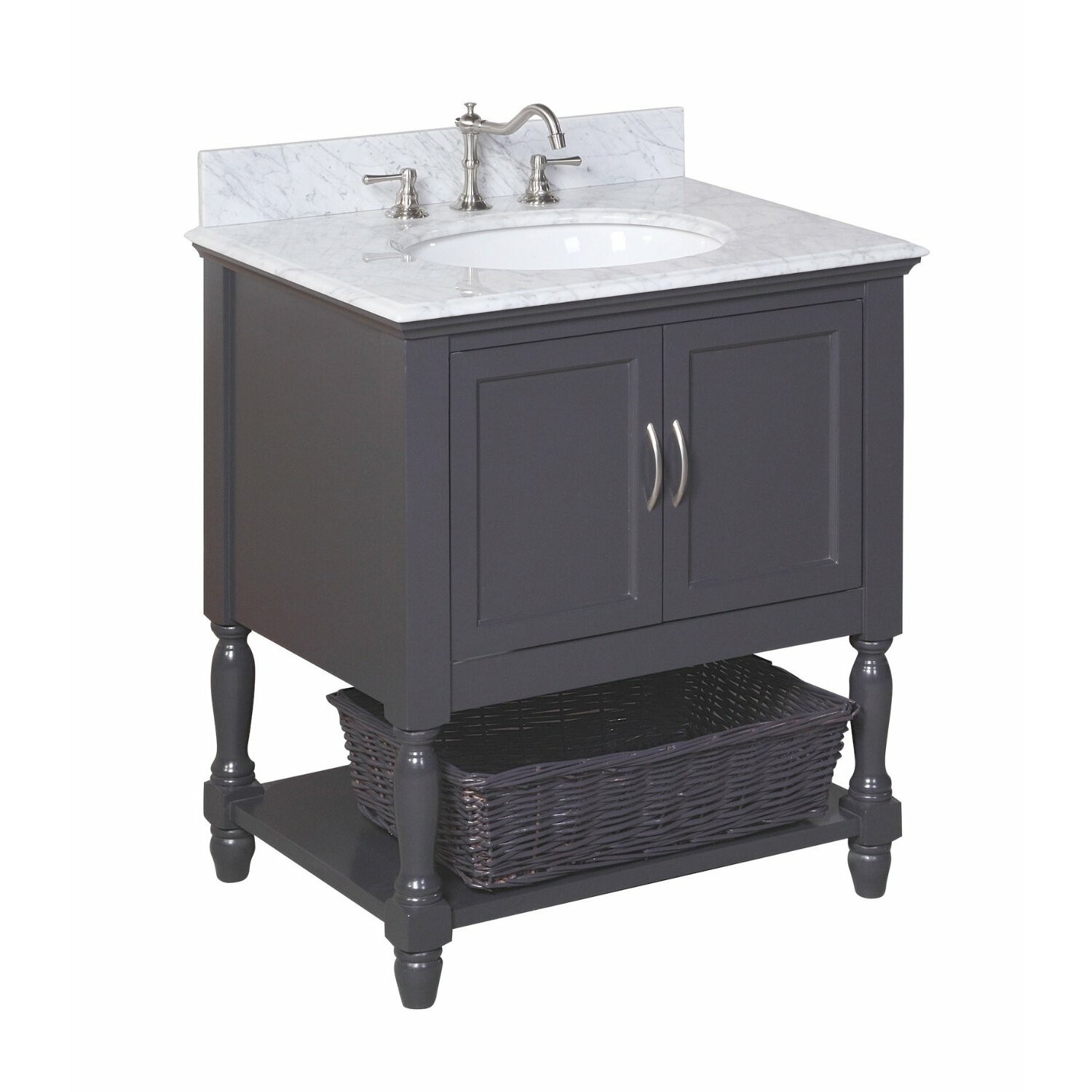 Kbc beverly 30 single bathroom vanity set reviews wayfair for Bath and vanity set