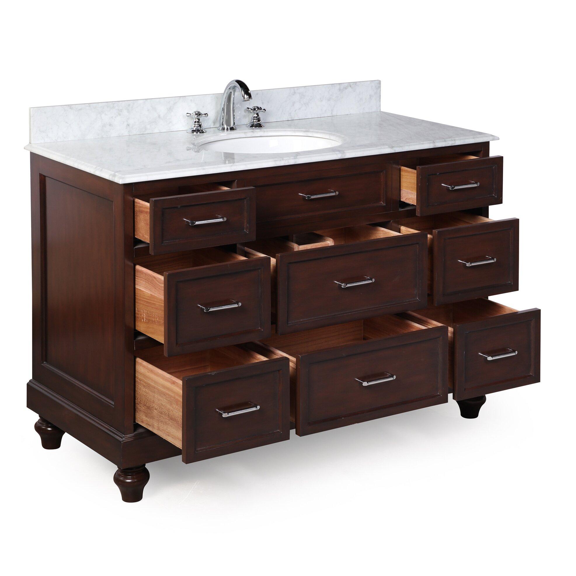 "Used Bathroom Vanity Sets For Sale: KBC Amelia 48"" Single Bathroom Vanity Set & Reviews"