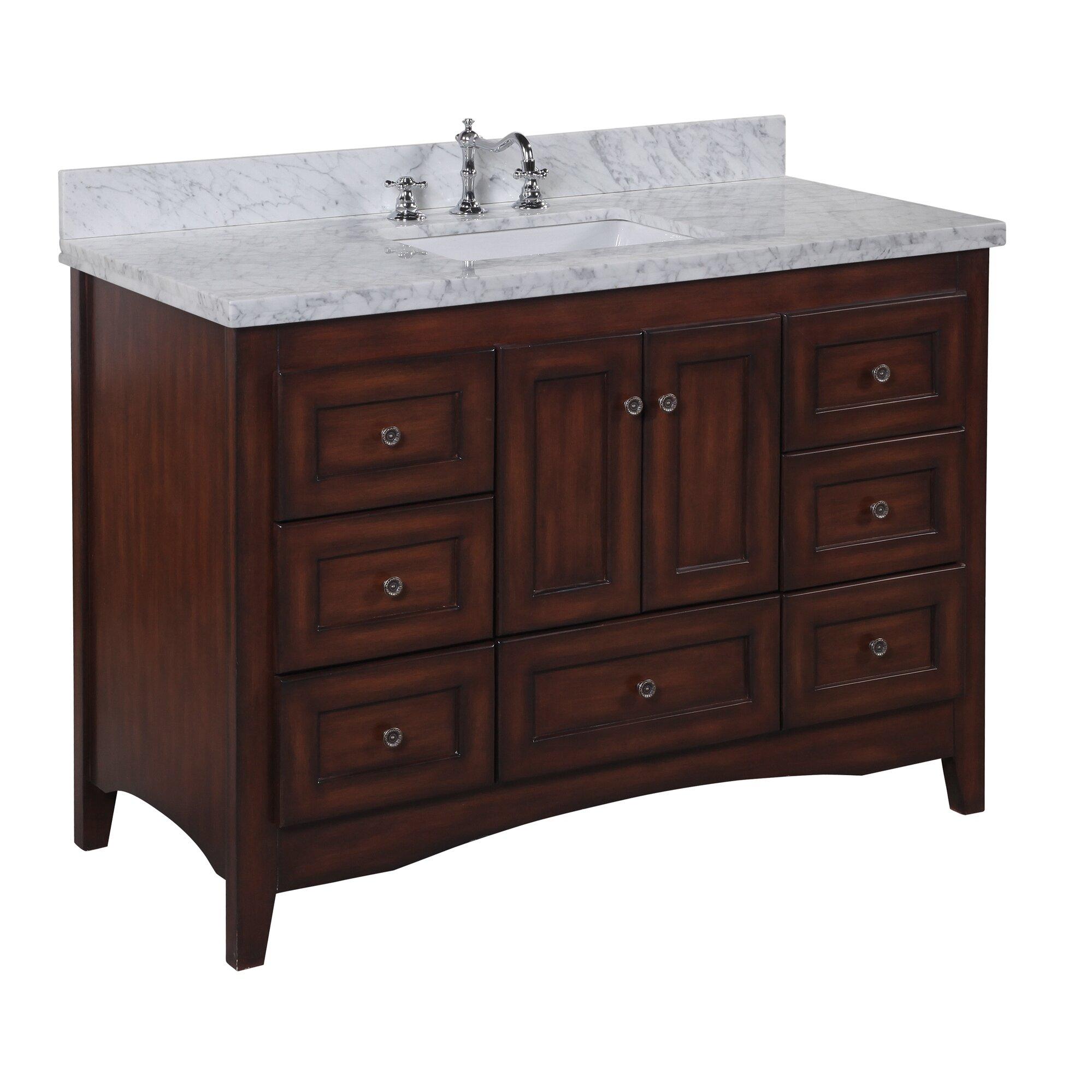"""Used Bathroom Vanity Sets For Sale: KBC Abbey 48"""" Single Bathroom Vanity Set & Reviews"""