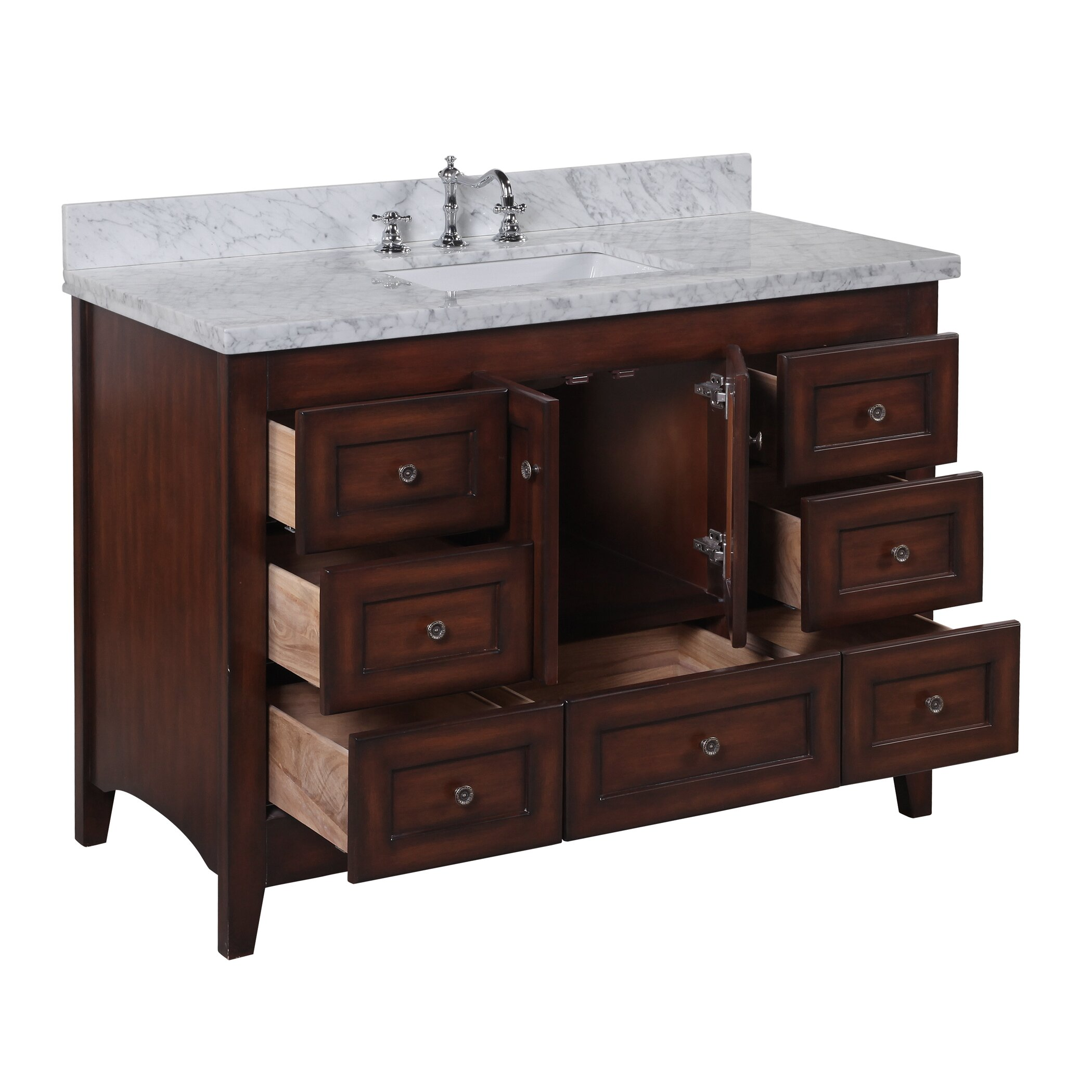 Kbc abbey 48 single bathroom vanity set reviews wayfair for Single bathroom vanity