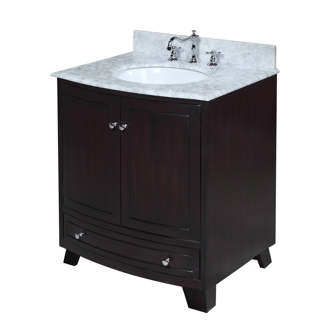 Kbc palazzo 30 single bathroom vanity set reviews wayfair for Bath and vanity set
