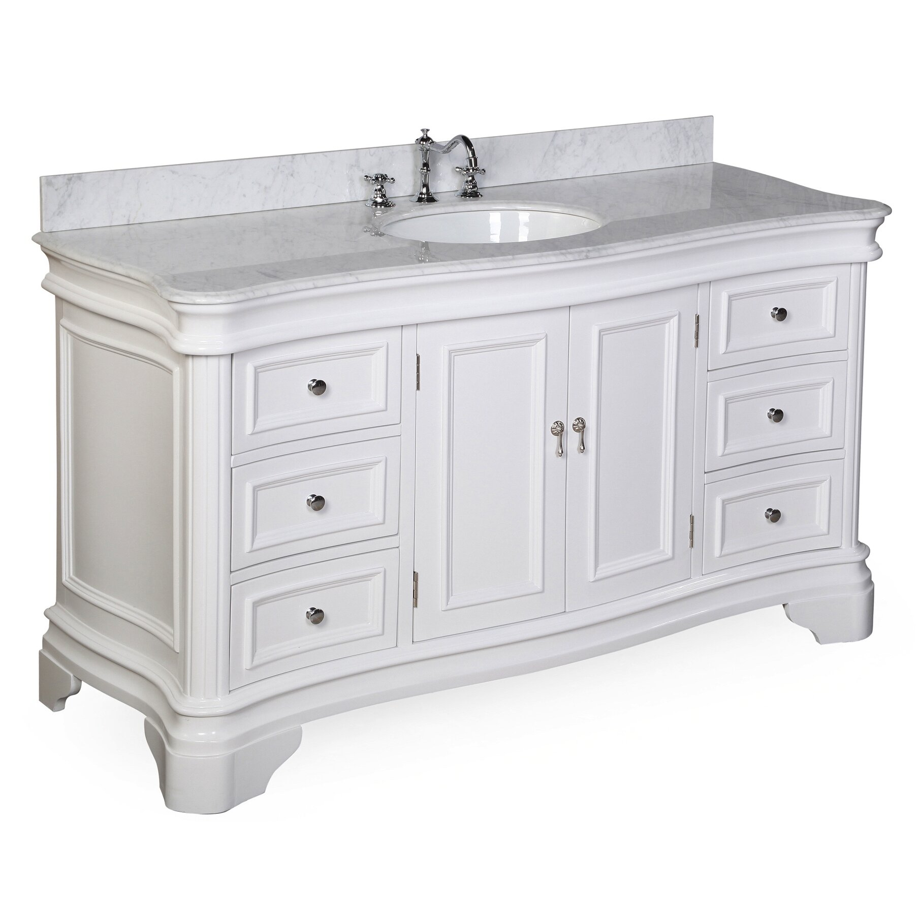Kbc Katherine 60 Single Sink Bathroom Vanity Set