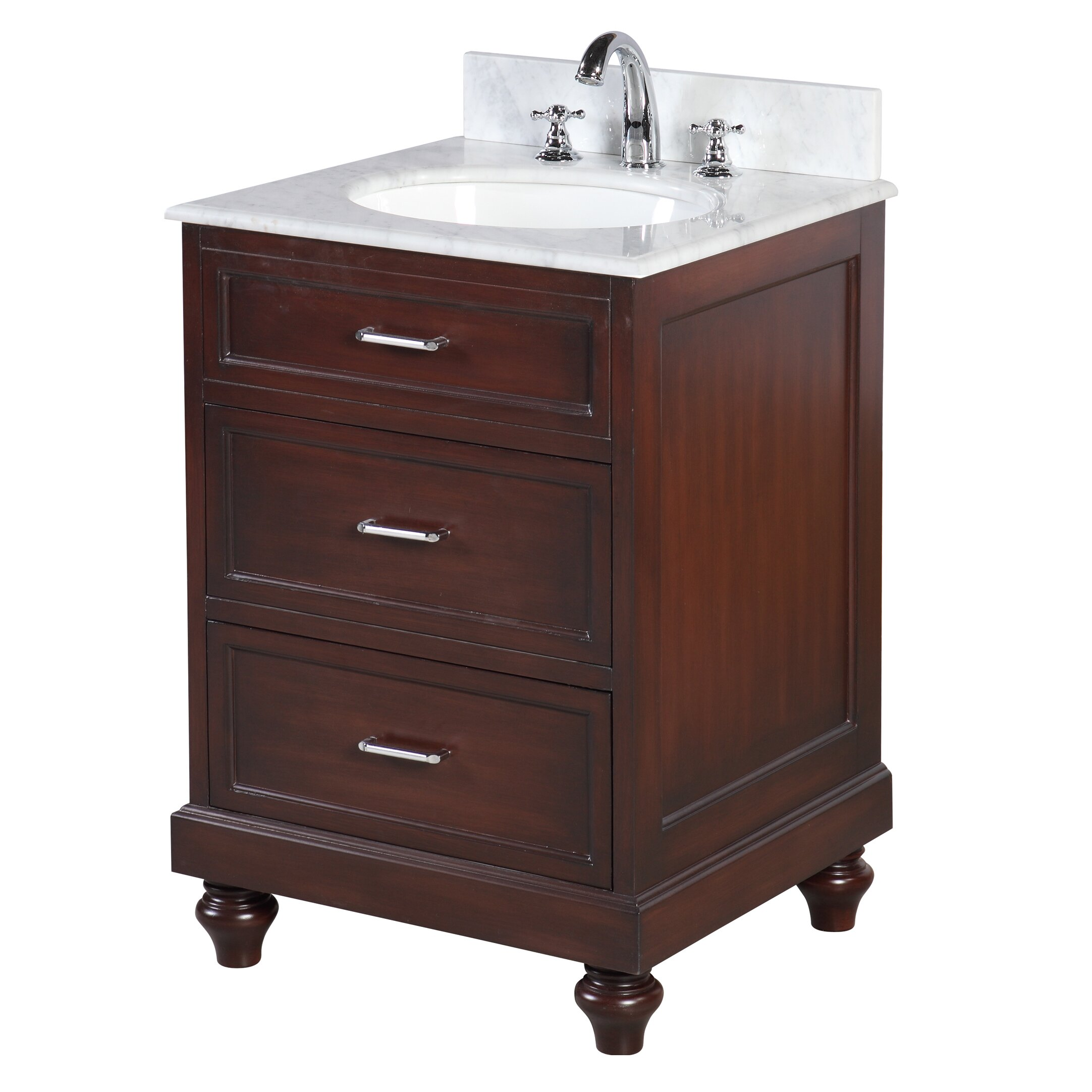 "KBC Amelia 24"" Single Bathroom Vanity Set & Reviews"