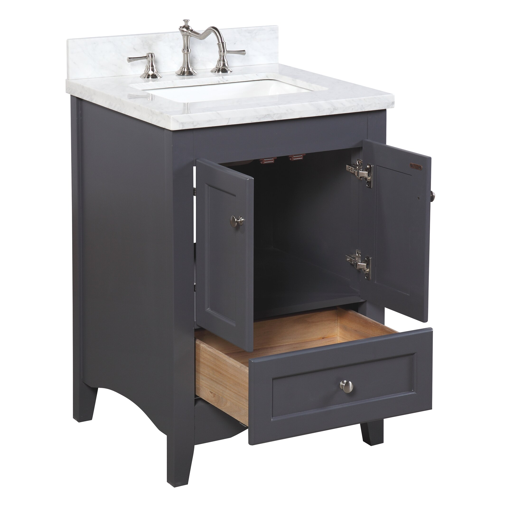 kbc abbey 24 single bathroom vanity set reviews wayfair ForBath And Vanity Set
