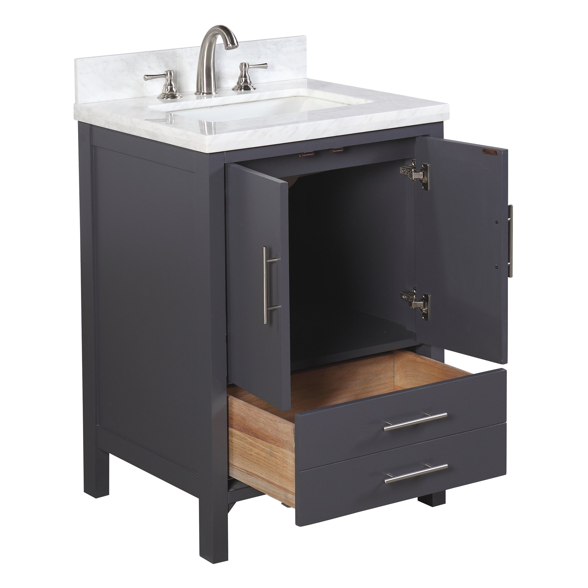 Kbc California 24 Single Bathroom Vanity Set Reviews Wayfair