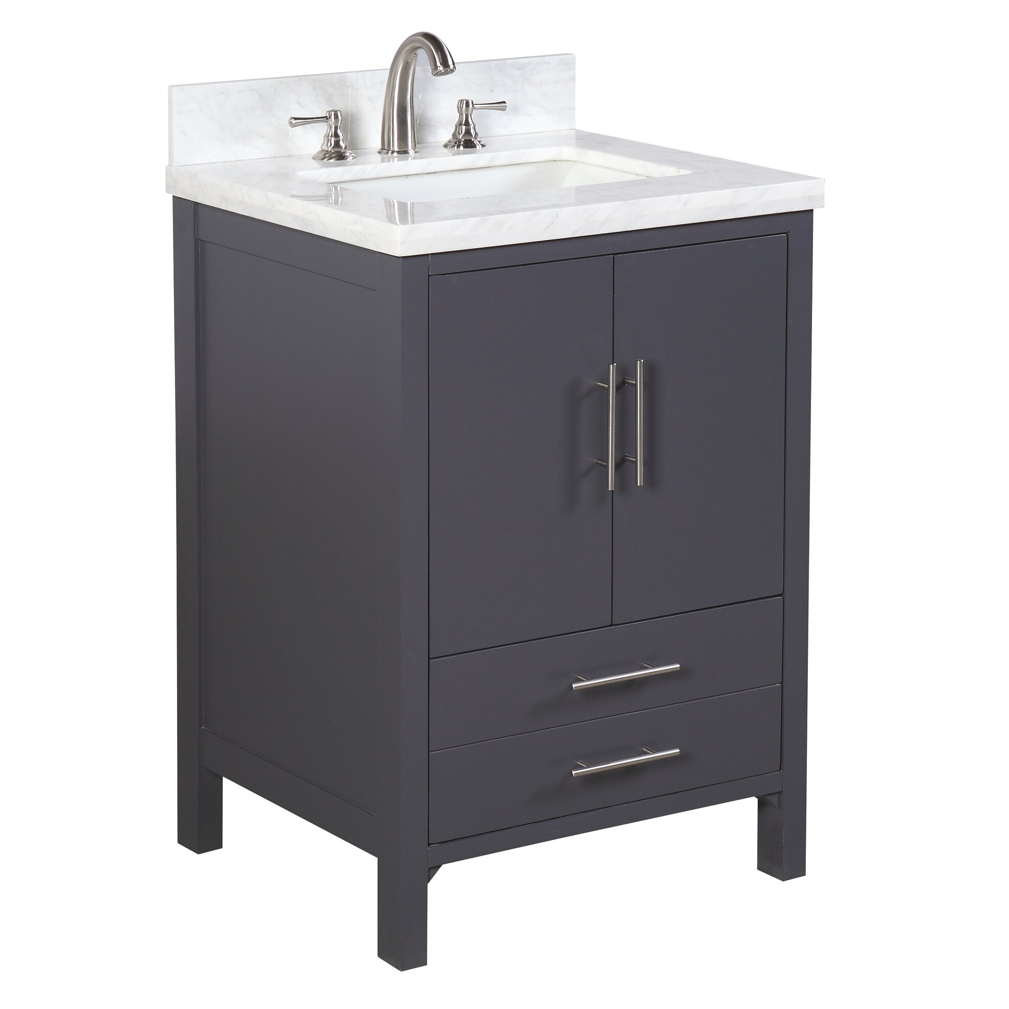 "KBC California 24"" Single Bathroom Vanity Set & Reviews"