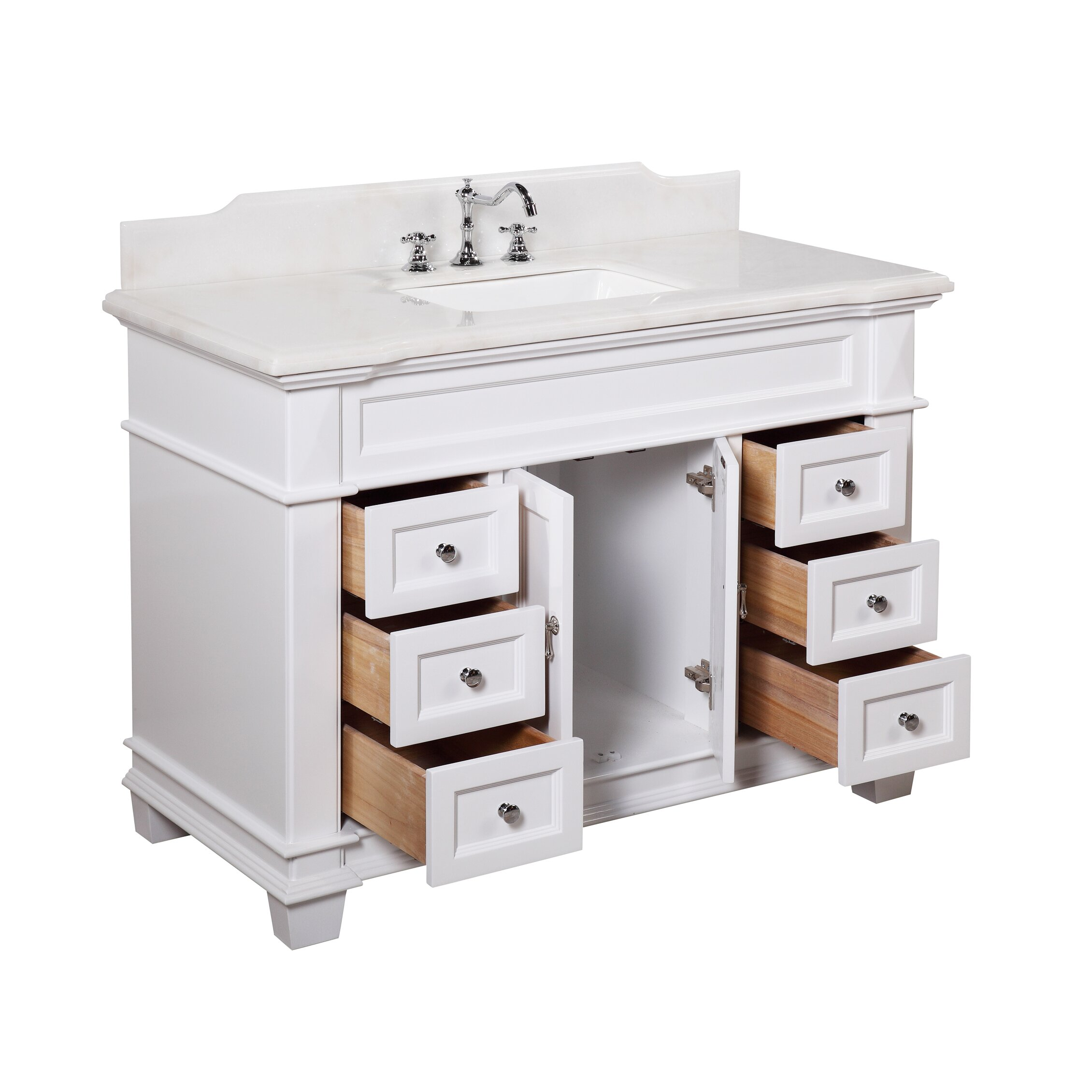 Kbc elizabeth 48 single bathroom vanity set reviews for Bath and vanity set