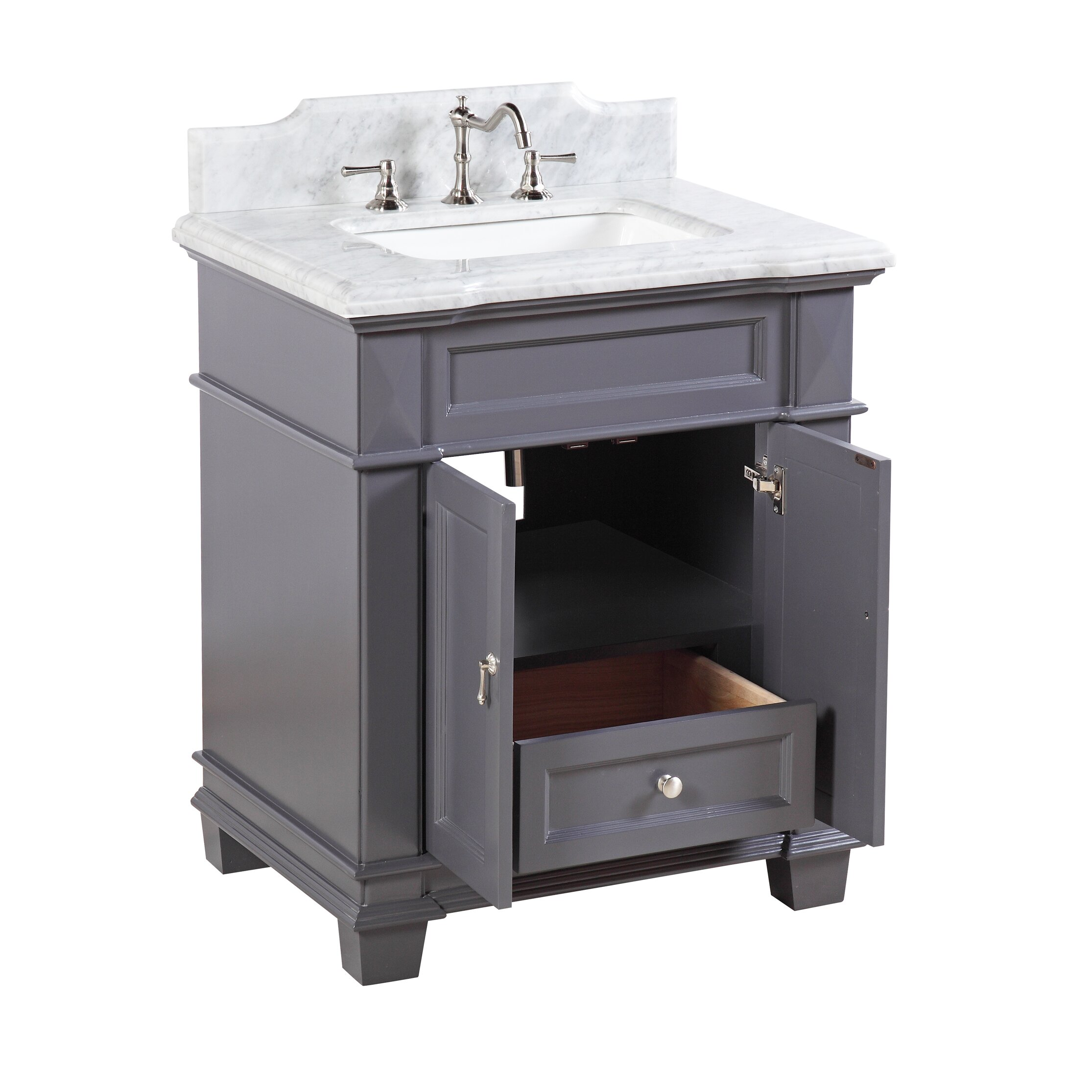 Kbc Elizabeth 30 Single Bathroom Vanity Set Reviews