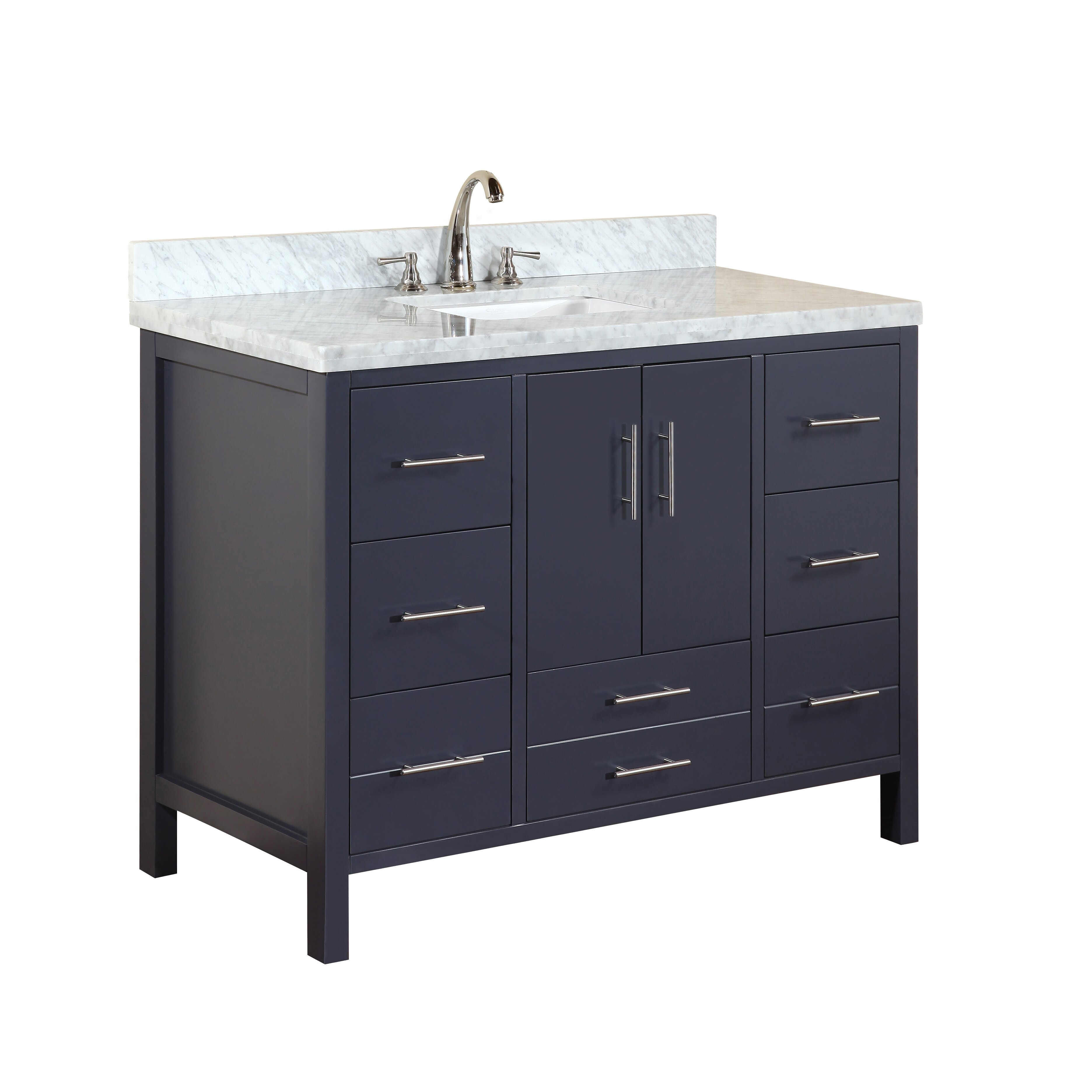 kbc california 48 quot single bathroom vanity set reviews
